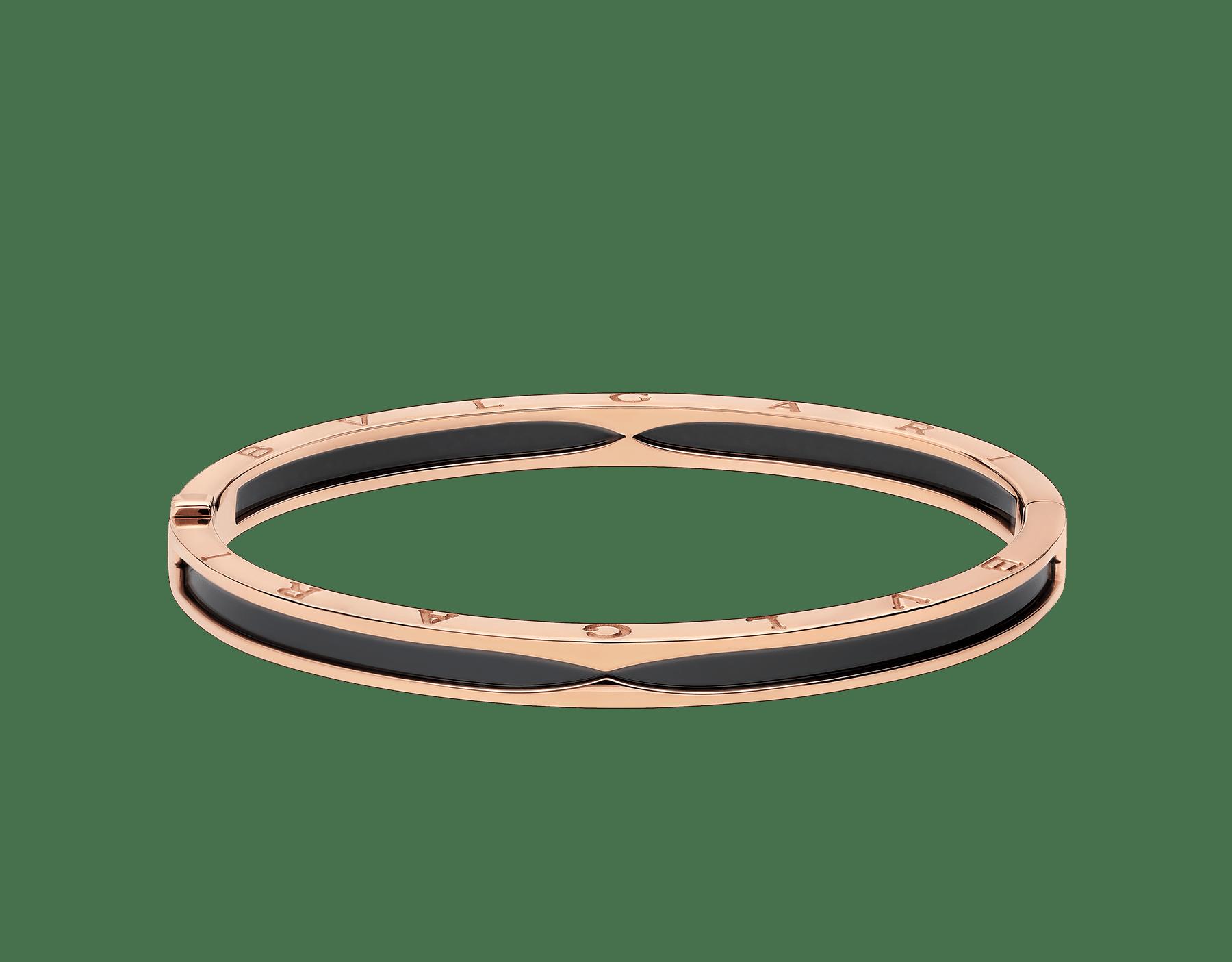 Com a icônica espiral levada ao limite, o delicado e sexy bracelete B.zero1 revela seu espírito contemporâneo através de fluidez geométrica e justaposição de materiais não convencionais. BR857618 image 2