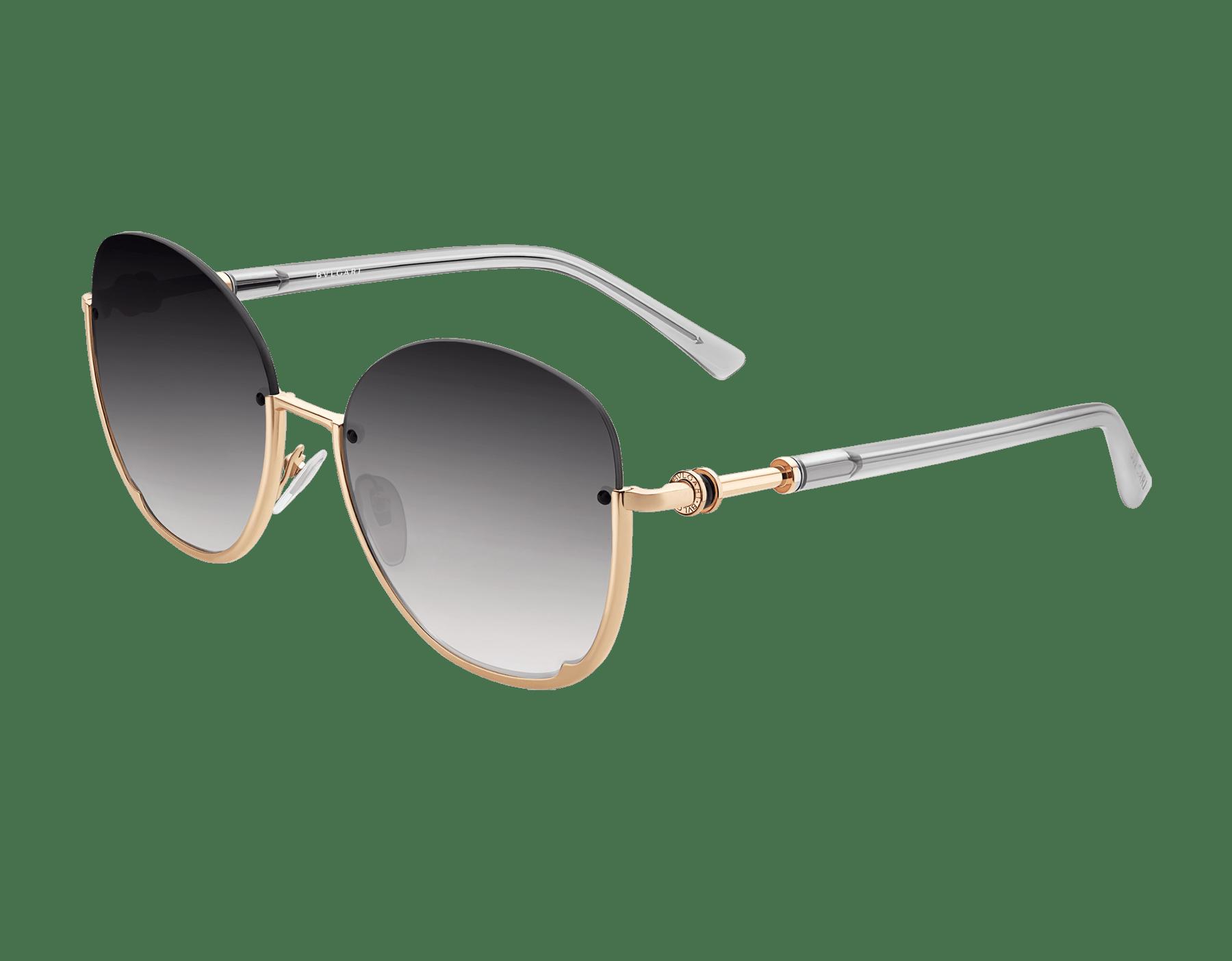 寶格麗 B.zero1 半框圓形金屬太陽眼鏡。 903819 image 1