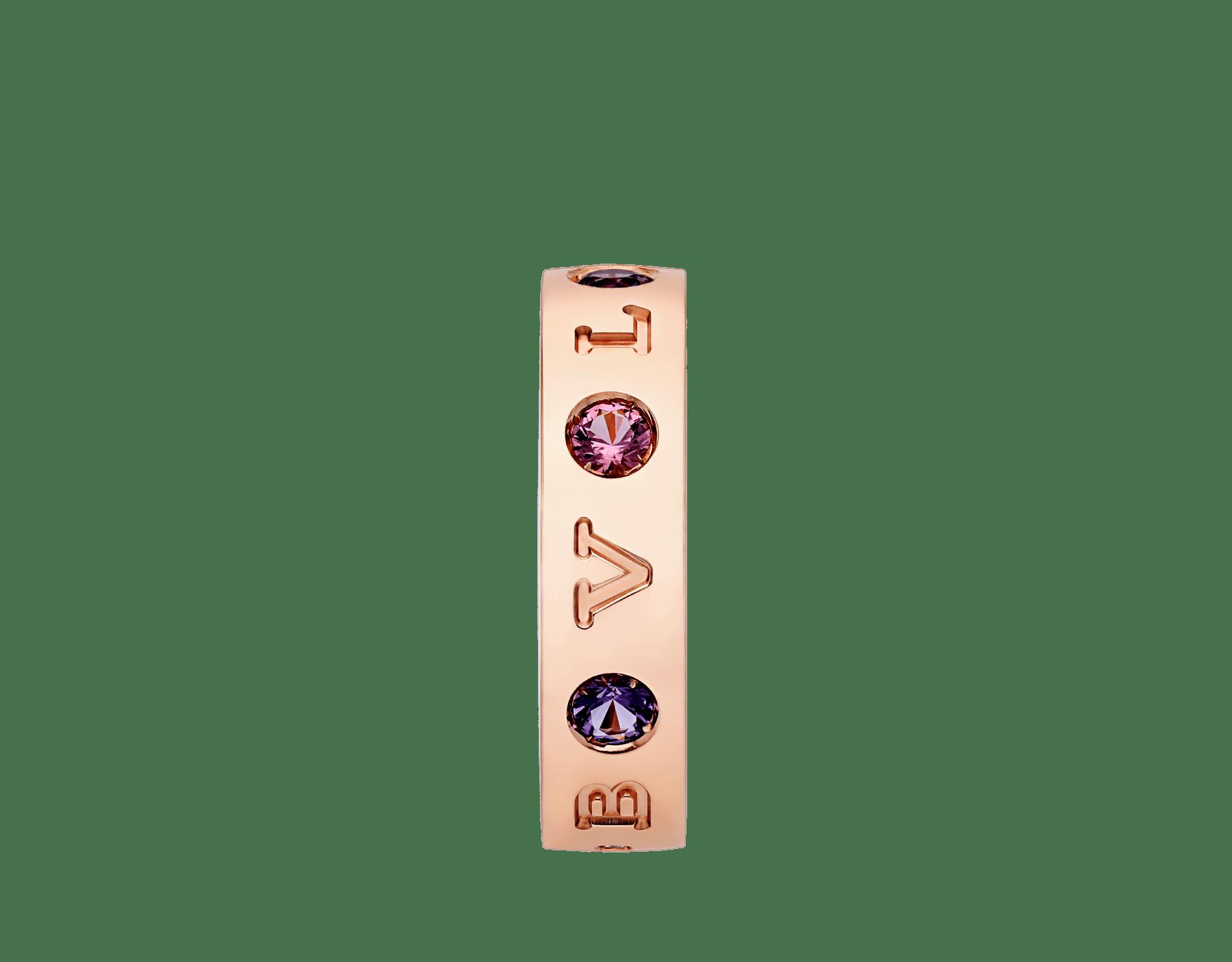 Anel BVLGARIBVLGARI em ouro rosa 18K cravejado com ametistas e turmalinas rosa AN857669 image 2