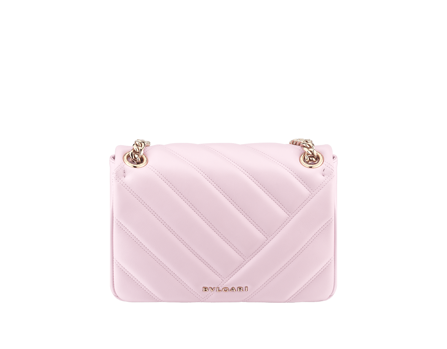 Serpenti Cabochon shoulder bag in soft matelassé rosa di francia nappa leather, with a graphic motif and rosa di francia calf leather. Brass light gold plated seductive snakehead closure in matt rosa di francia, shiny rosa di francia enamel and black onyx eyes. 288720 image 3