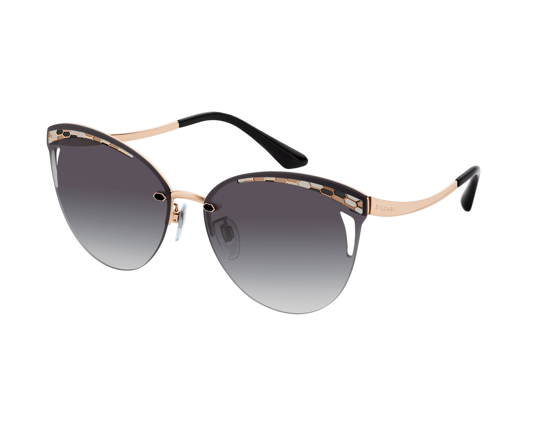 Bvlgari Serpentine Rainbow Scales semi-rimless cat-eye metal sunglasses 903639 image 1