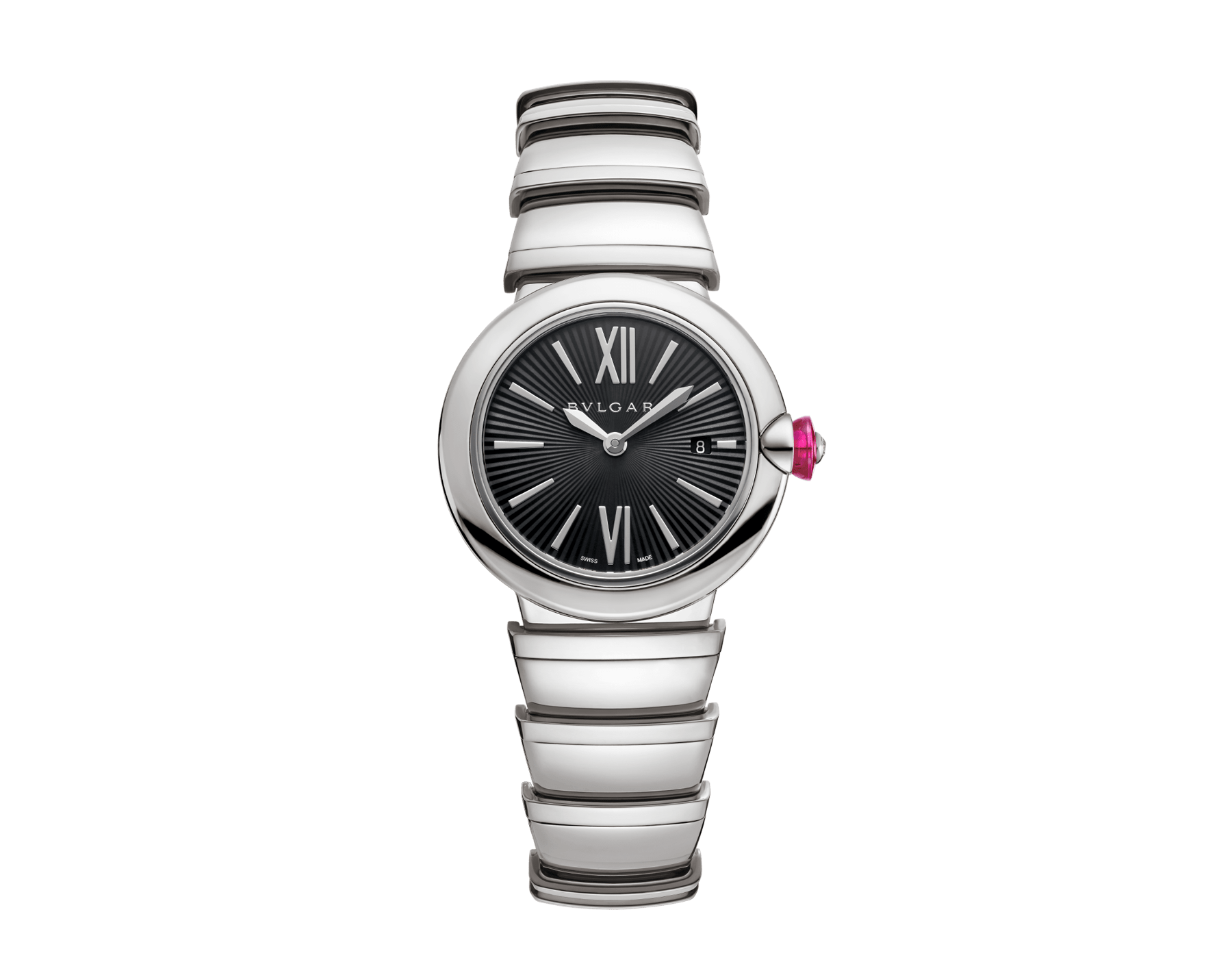 LVCEA watch in stainless steel case and bracelet, with black dial. 102690 image 1