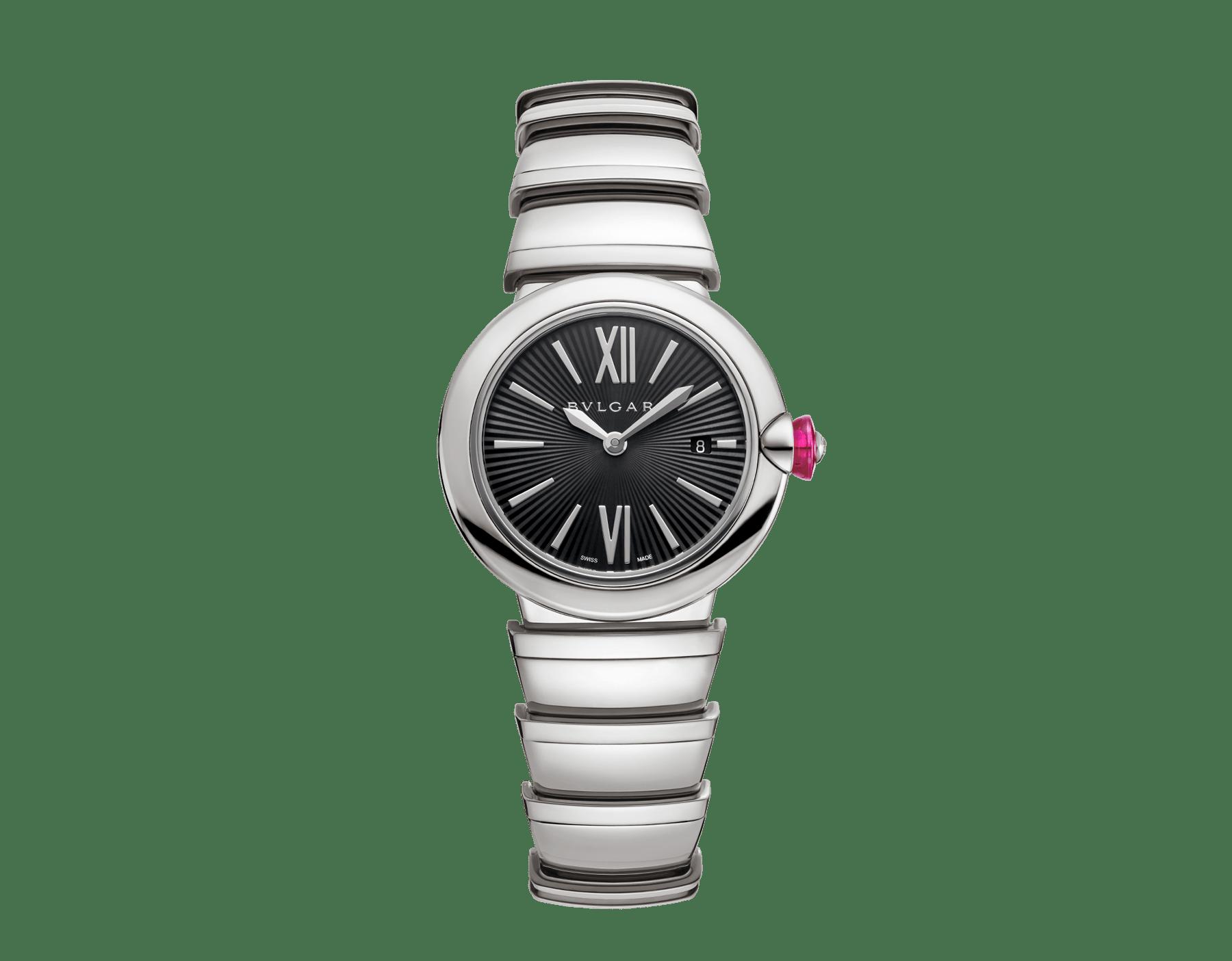 Montre LVCEA avec boîtier et bracelet en acier inoxydable, cadran noir. 102690 image 1