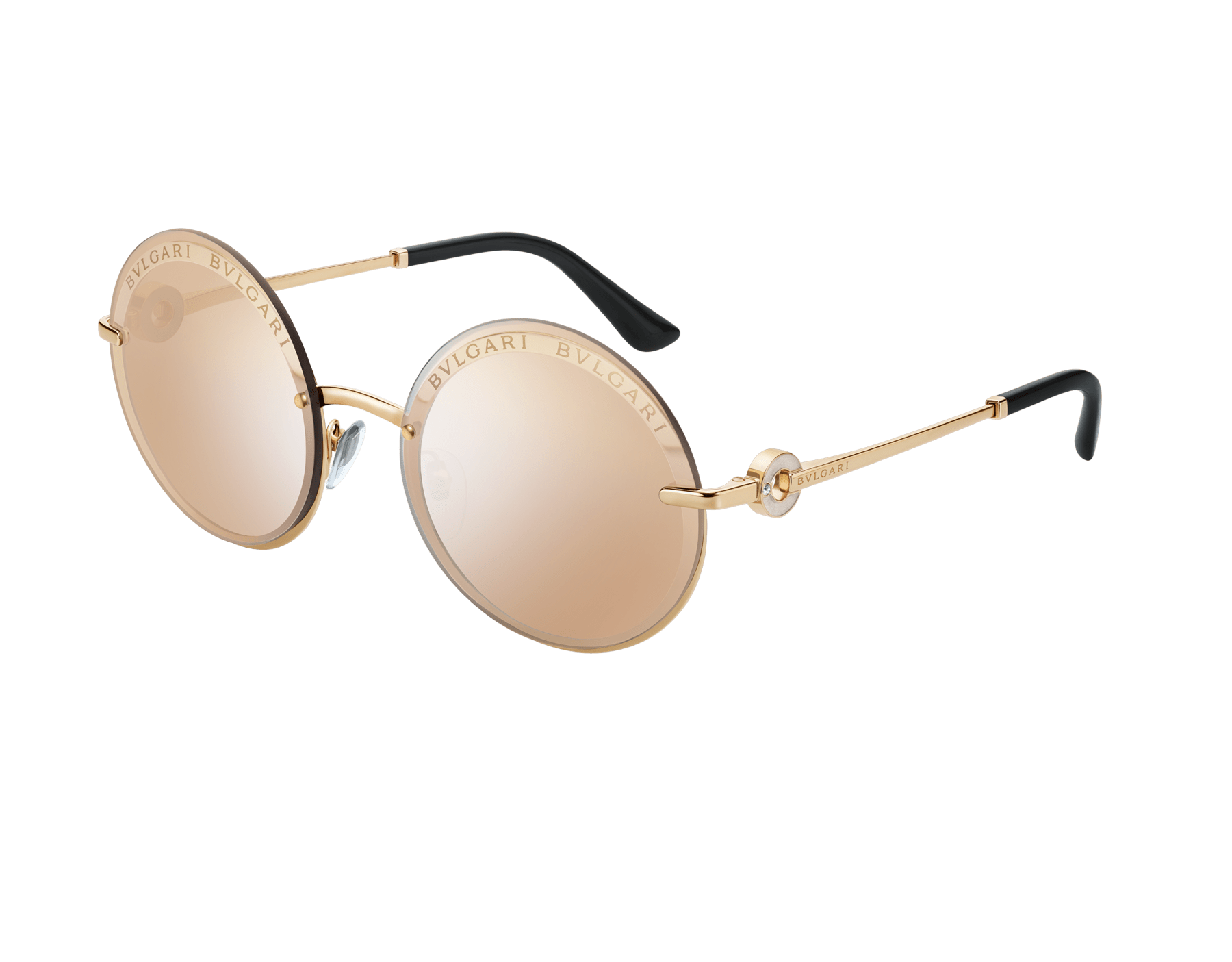 "Bvlgari Bvlgari ""On-Me"" round metal sunglasses. 904041 image 1"