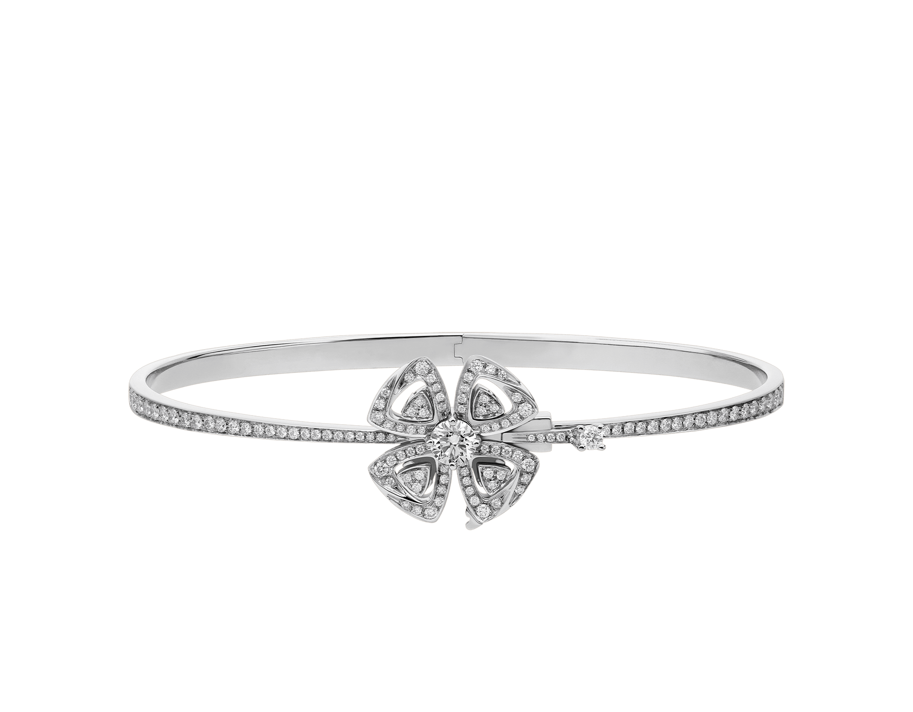 Fiorever 18 kt white gold bracelet set with a central diamond (0.30 ct) and pavé diamonds (0.63 ct) BR858706 image 2