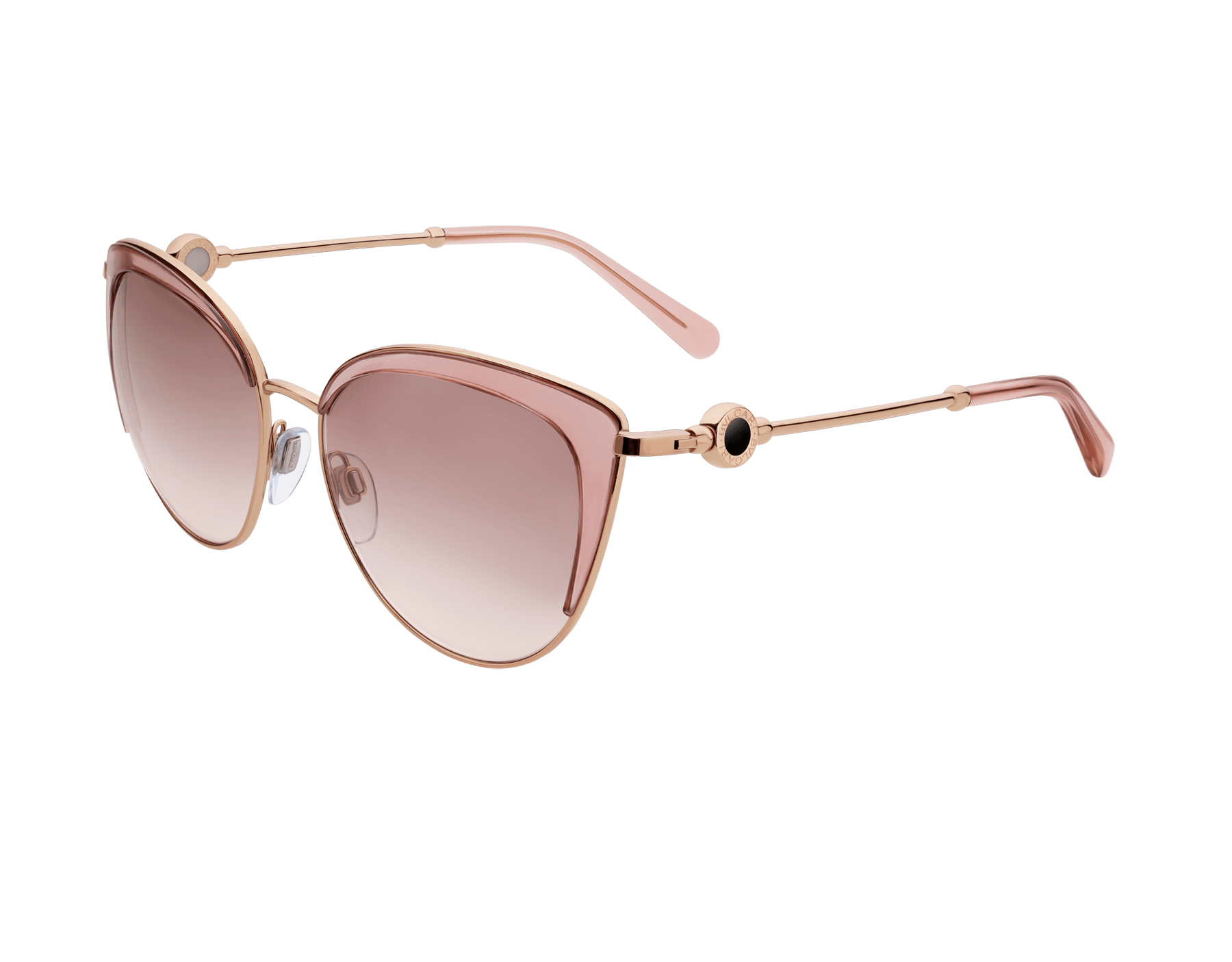 BVLGARI BVLGARI soft cat-eye metal sunglasses featuring a round décor with double logo. 903915 image 1