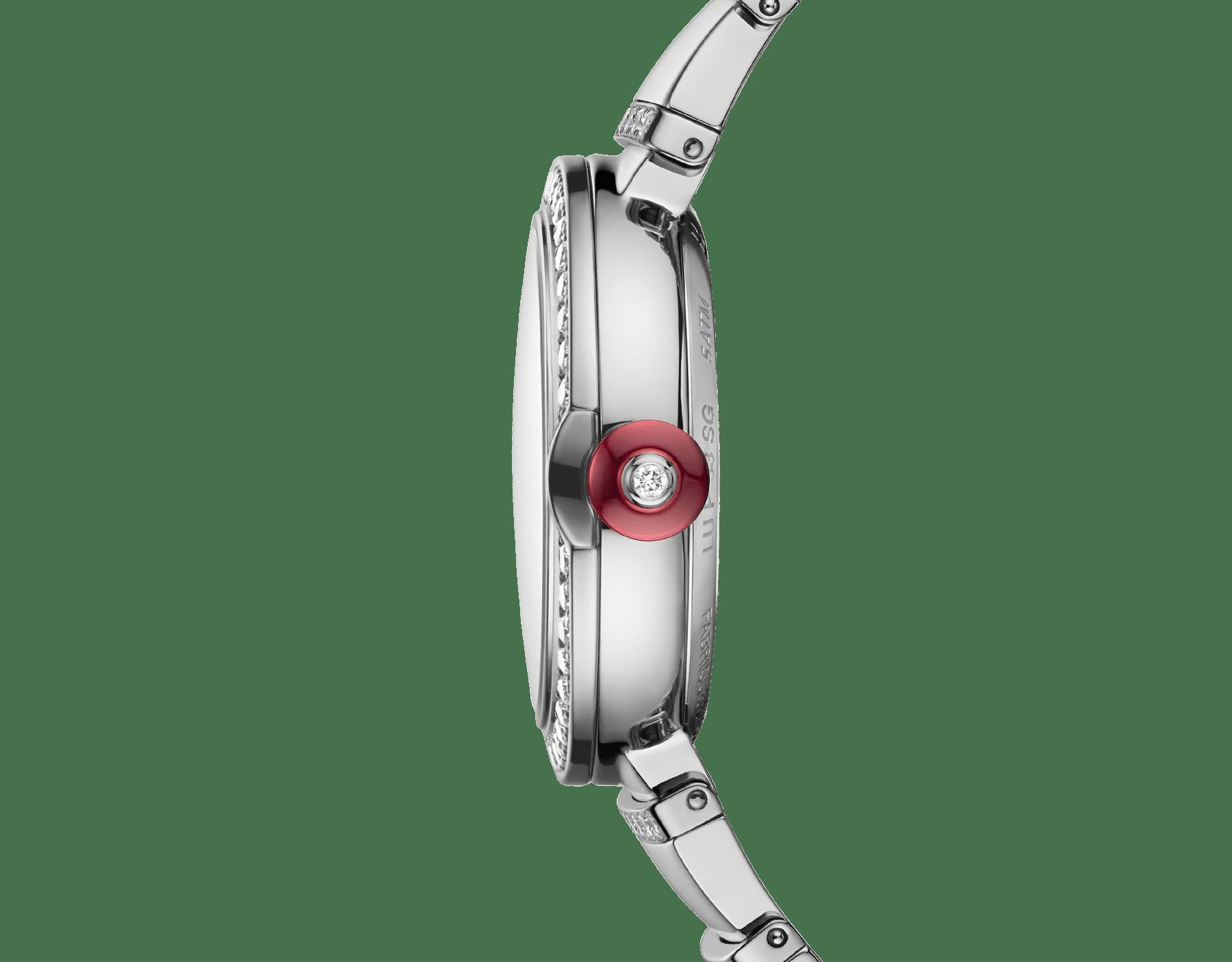 Orologio LVCEA con cassa e bracciale in oro bianco 18 kt con diamanti taglio brillante e quadrante con pavé di diamanti. 102380 image 3