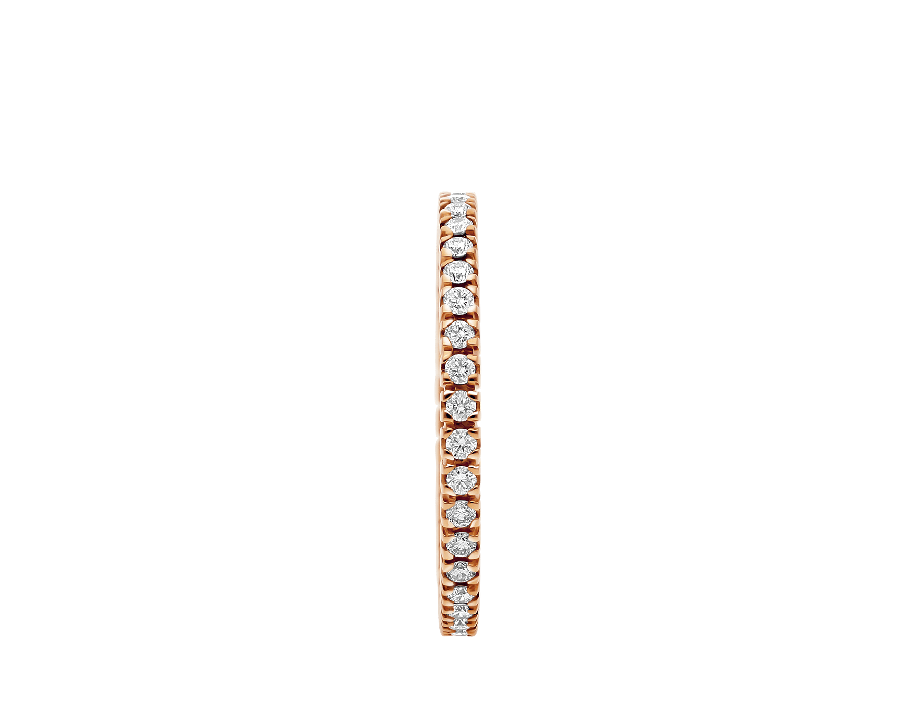 Eternity Band in thin size in 18 kt rose gold with round brilliant cut diamonds AN856428 image 2