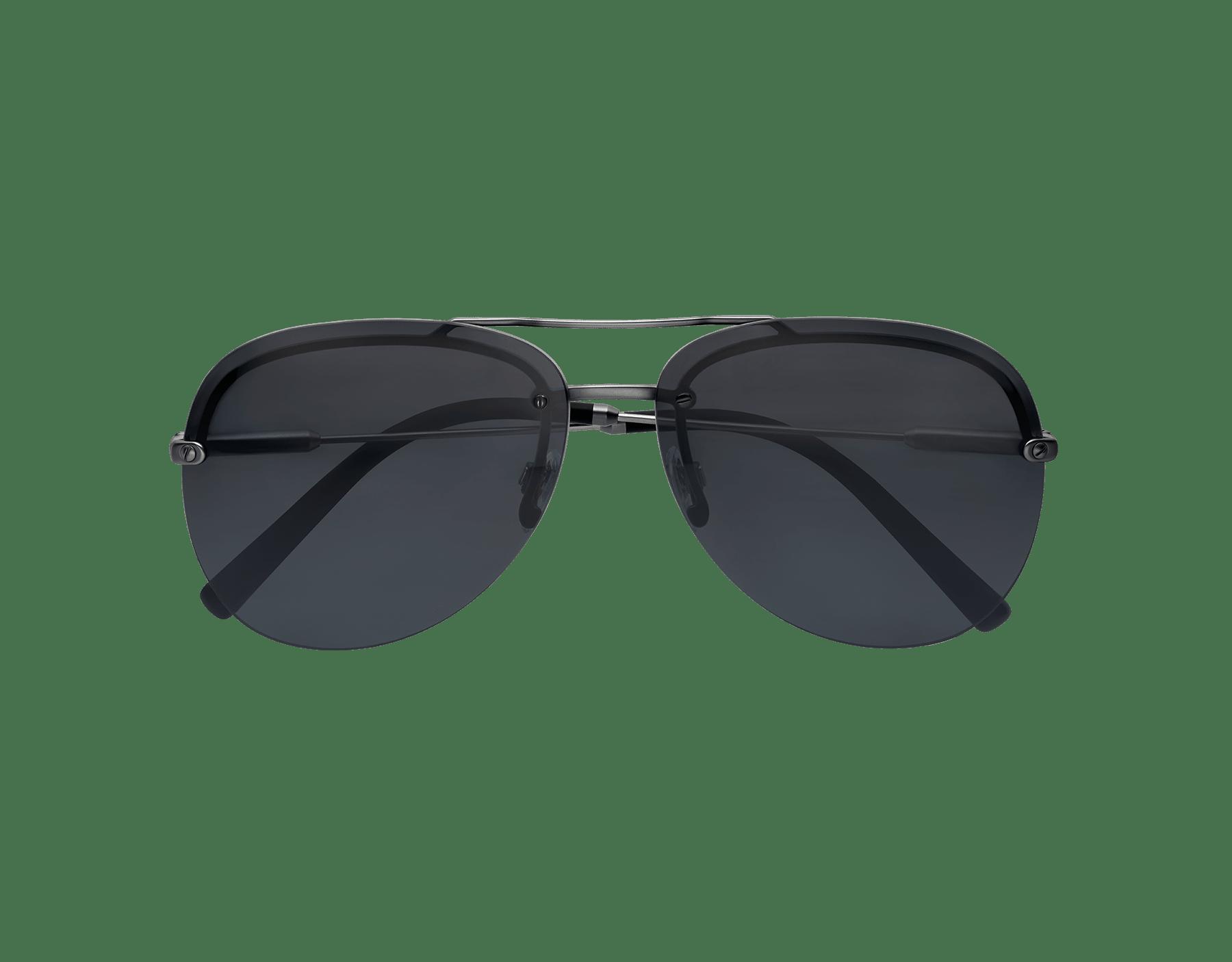 BVLGARI BVLGARI semi-rimless aviator sunglasses. 903412 image 4