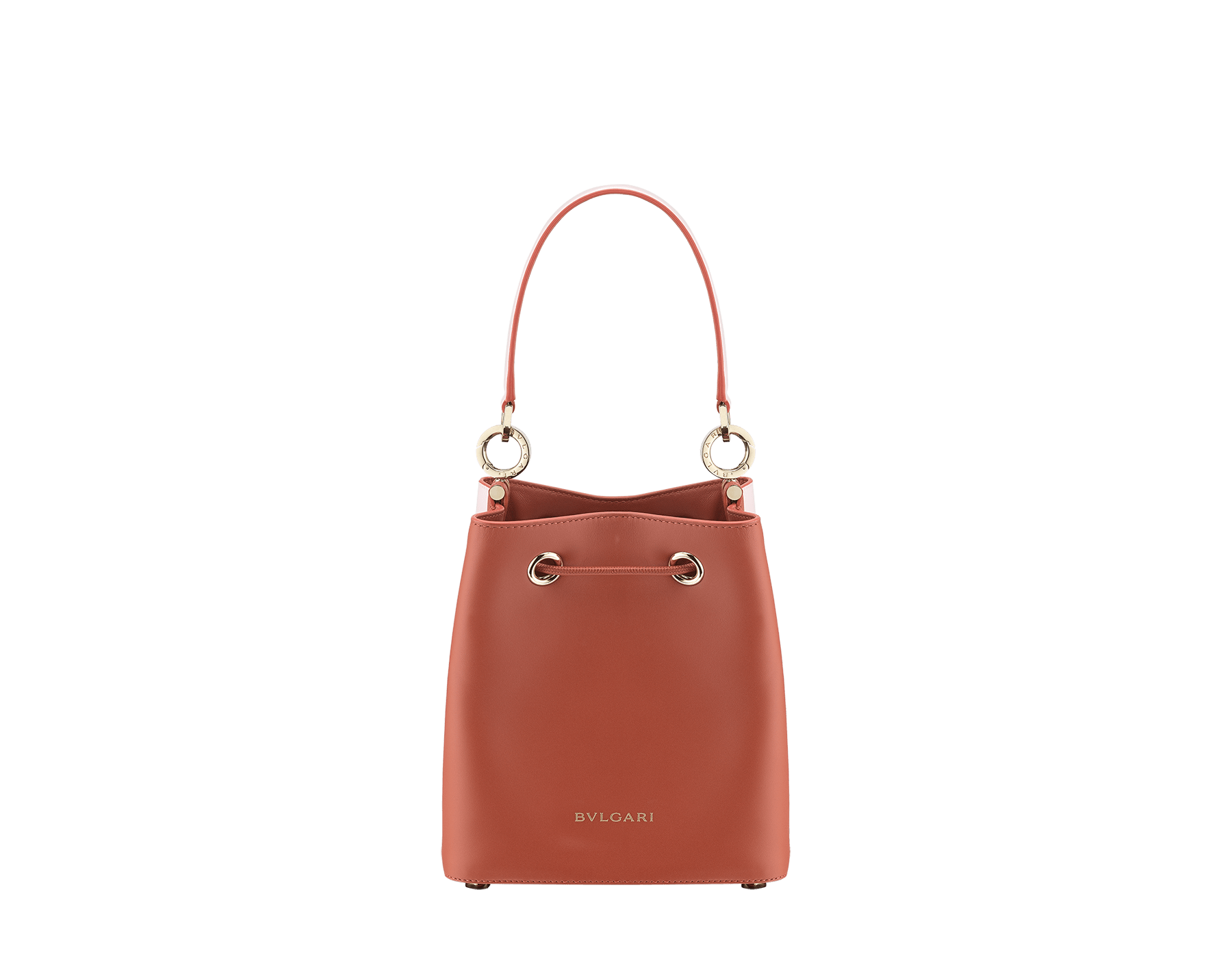 Bucket B.zero1 in rosa di francia and imperial topaz smooth calf leather and imperial topaz nappa inner lining. Hardware in light gold plated brass, featuring B.zero1 décor. 288951 image 3
