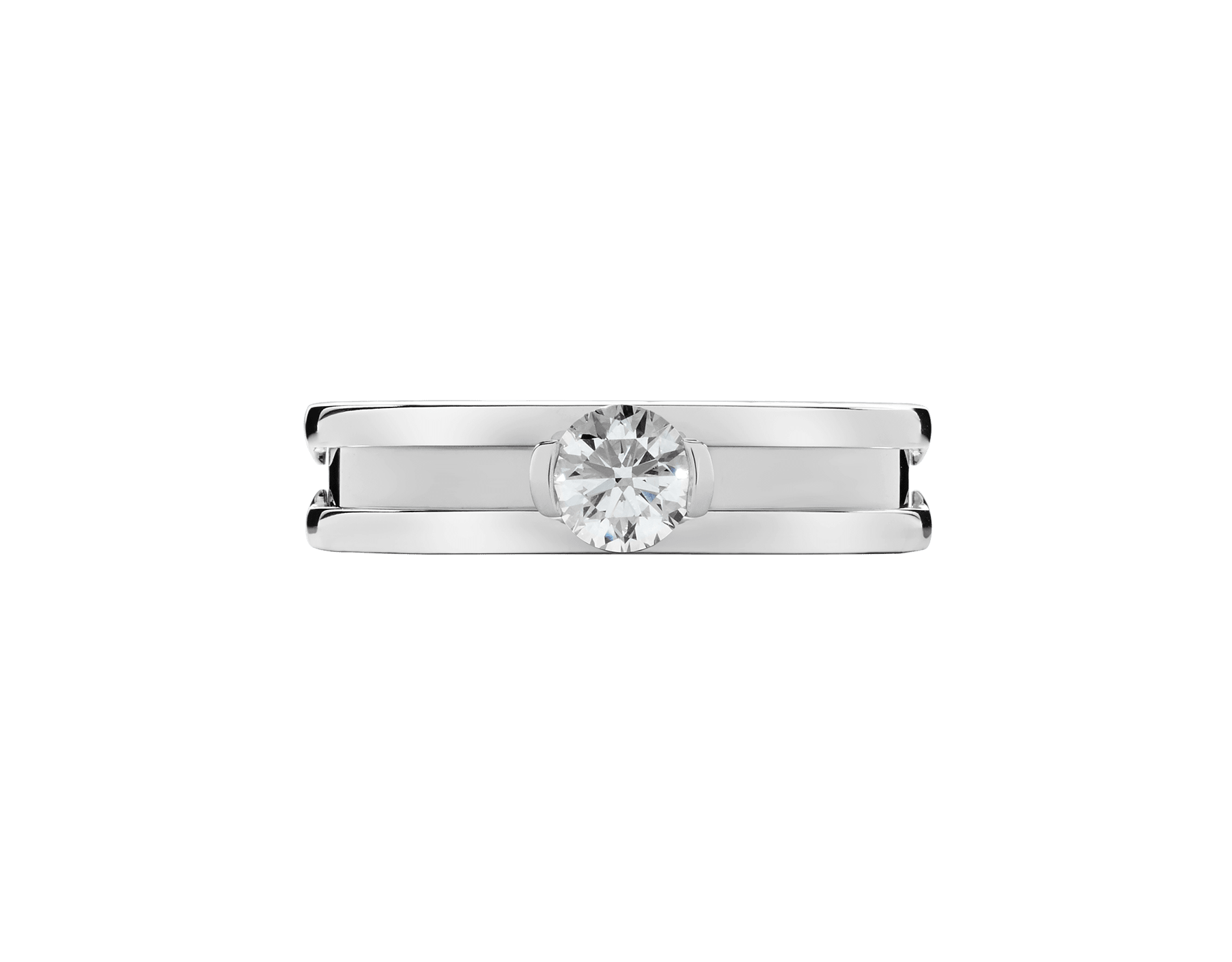 B.zero1 one-band 18 kt white gold ring with one round brilliant cut diamond. Available in 0.30 and 0.50 ct. 336277 image 3