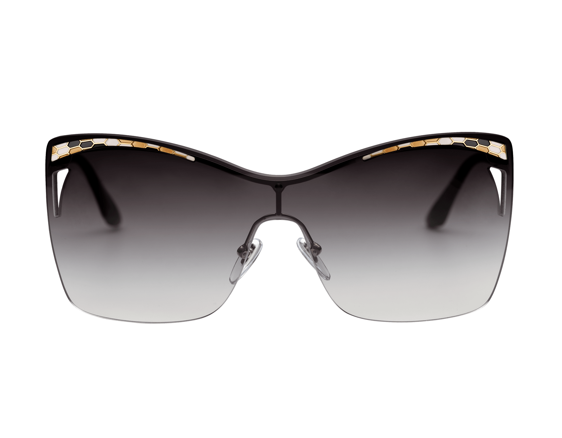 Bulgari Serpenti Eye-bite metal shield sunglasses. 903979 image 2