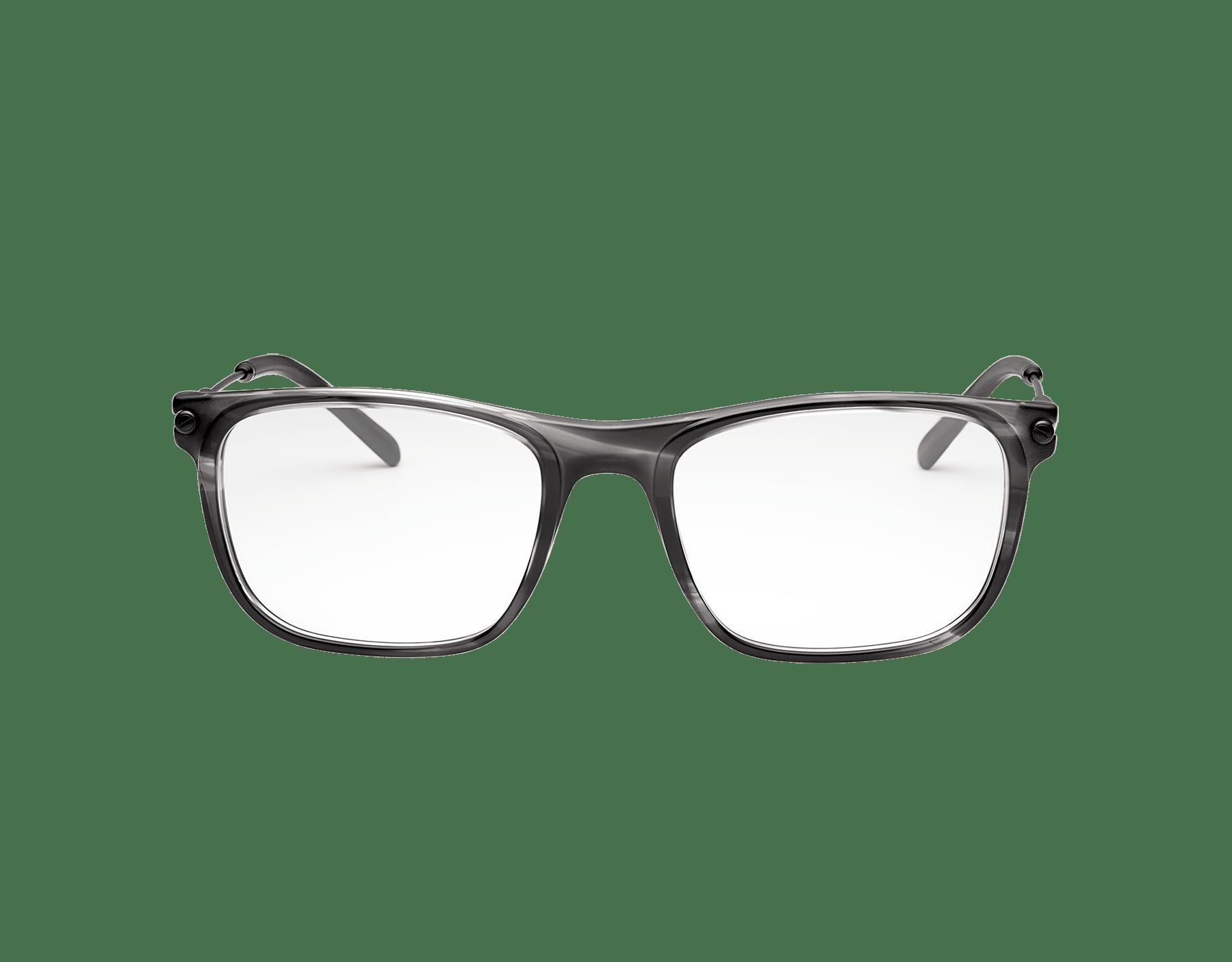 Diagono rectangular acetate eyeglasses. 903634 image 2