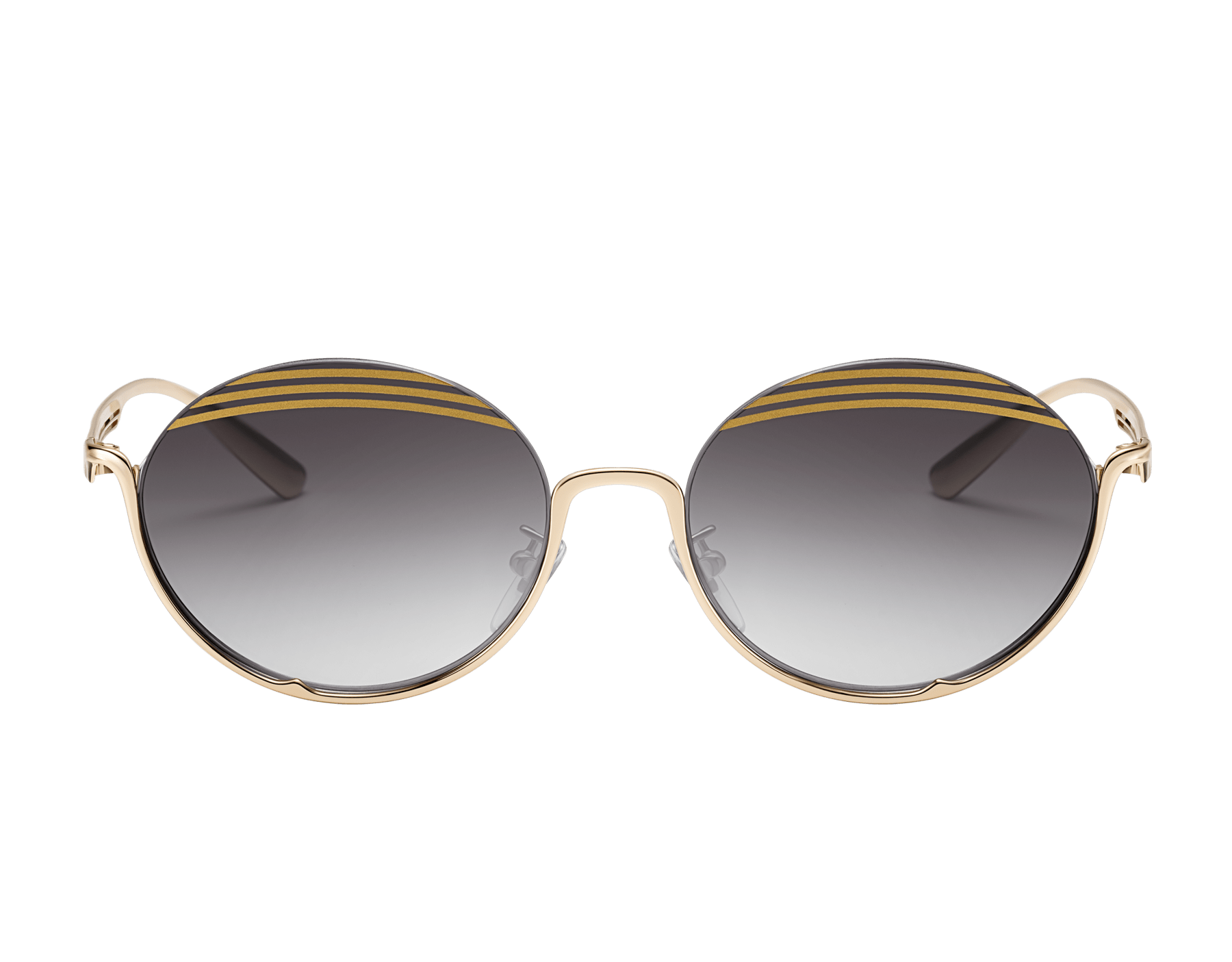 Bvlgari B.zero1 B.stripe semi-rimless oval metal sunglasses. 903719 image 2