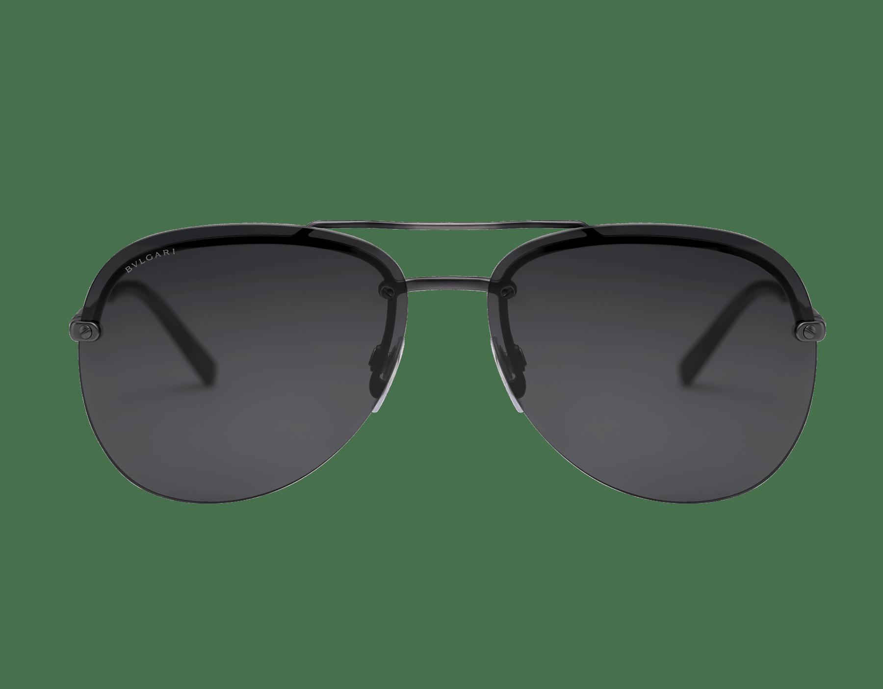 BVLGARI BVLGARI semi-rimless aviator sunglasses. 903412 image 3