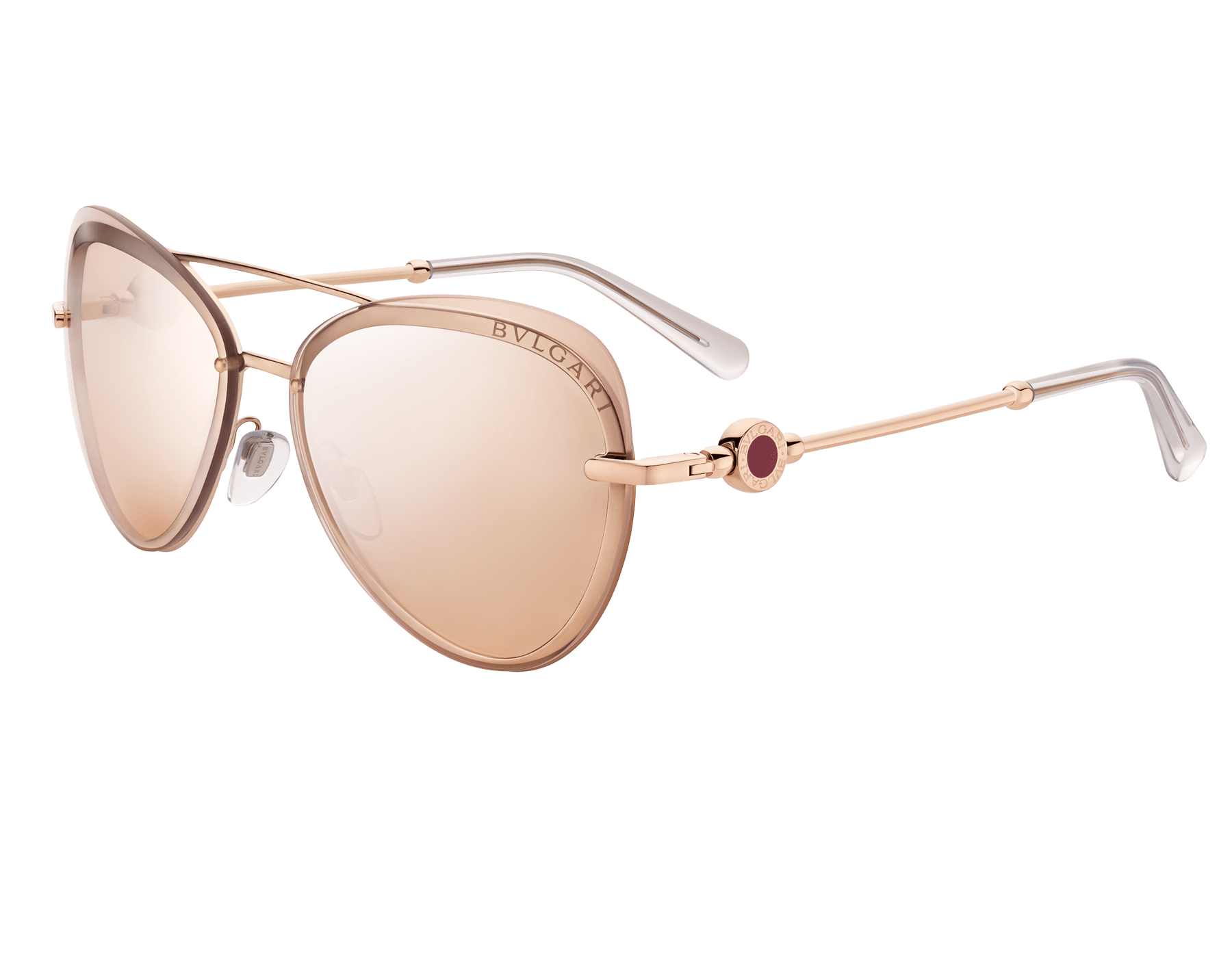 "Bvlgari Bvlgari ""On Me"" metal aviator sunglasses 904080 image 1"