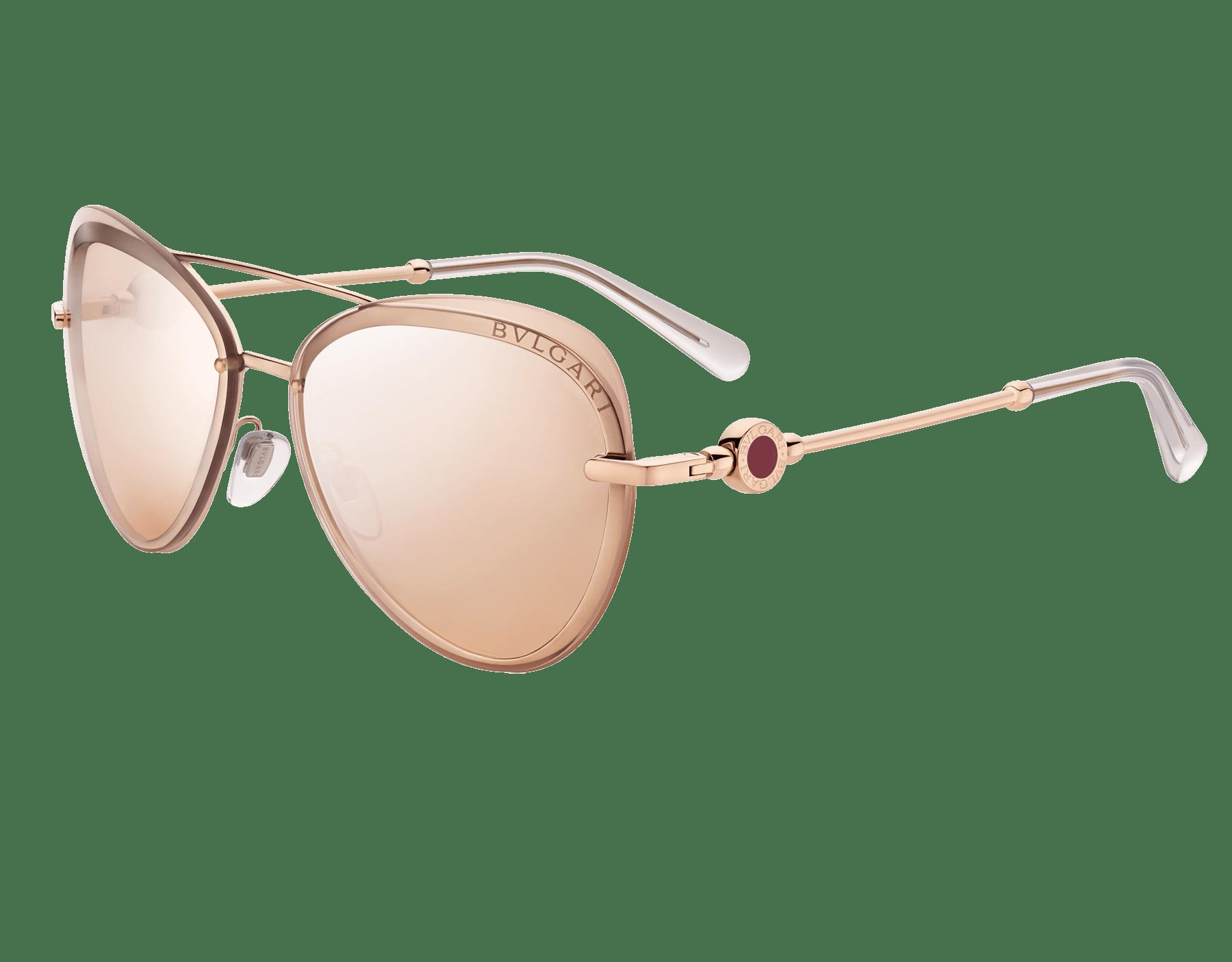نظارات طيار شمسية بولغري بولغري «أون مي» معدنية 904080 image 1