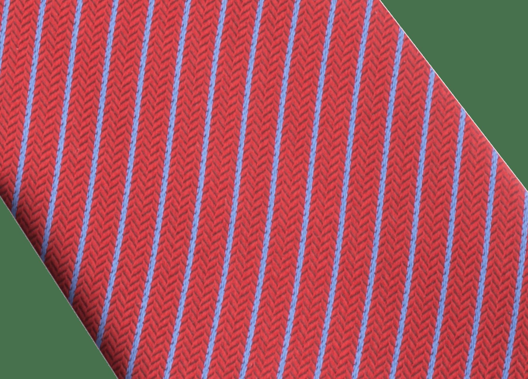 「Octo & Stripes」柄があしらわれたレッドのセブンフォールドタイ。上質なジャガードシルク製。 244210 image 2