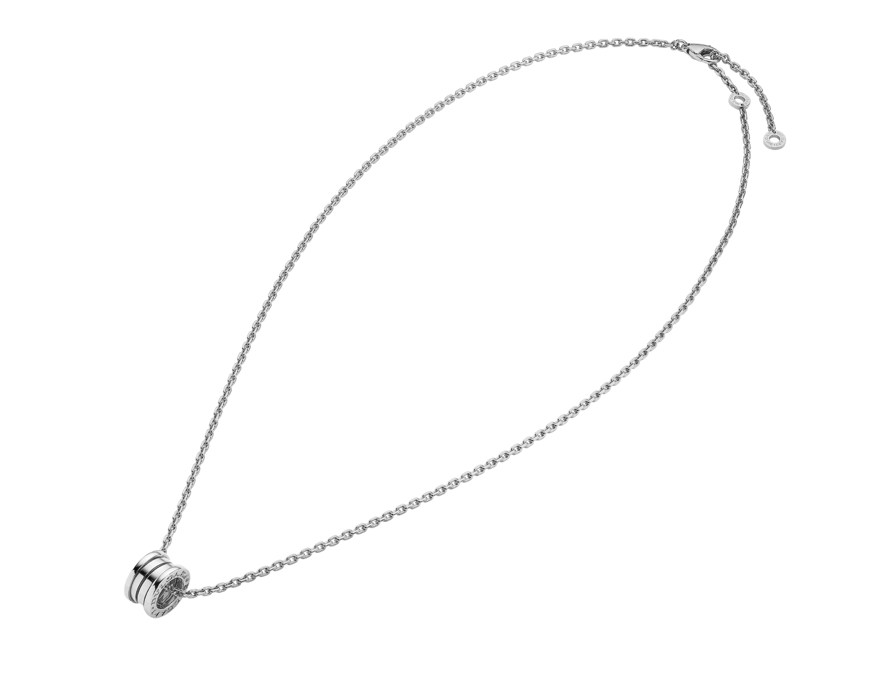B.zero1 pendant necklace in 18 kt white gold 358347 image 2