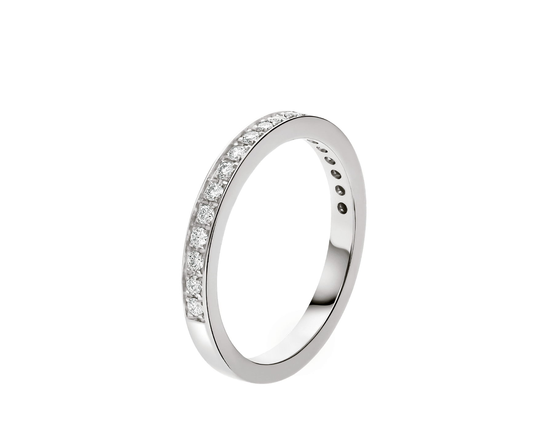 Dedicata a Venezia platinum wedding band with demi tour round brilliant cut diamonds AN857560 image 1