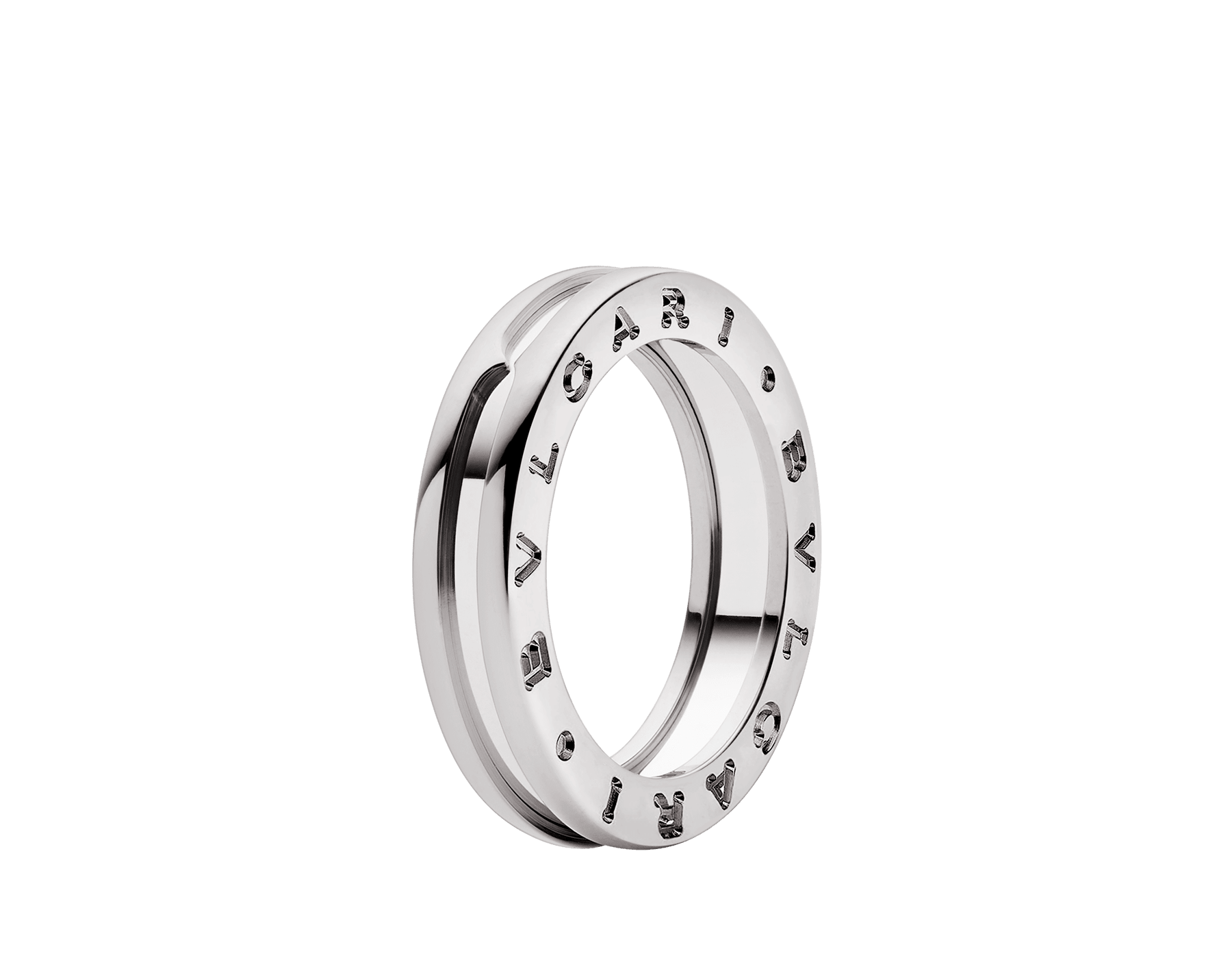 B.zero1 one-band ring in 18 kt white gold. B-zero1-1-bands-AN852423 image 1
