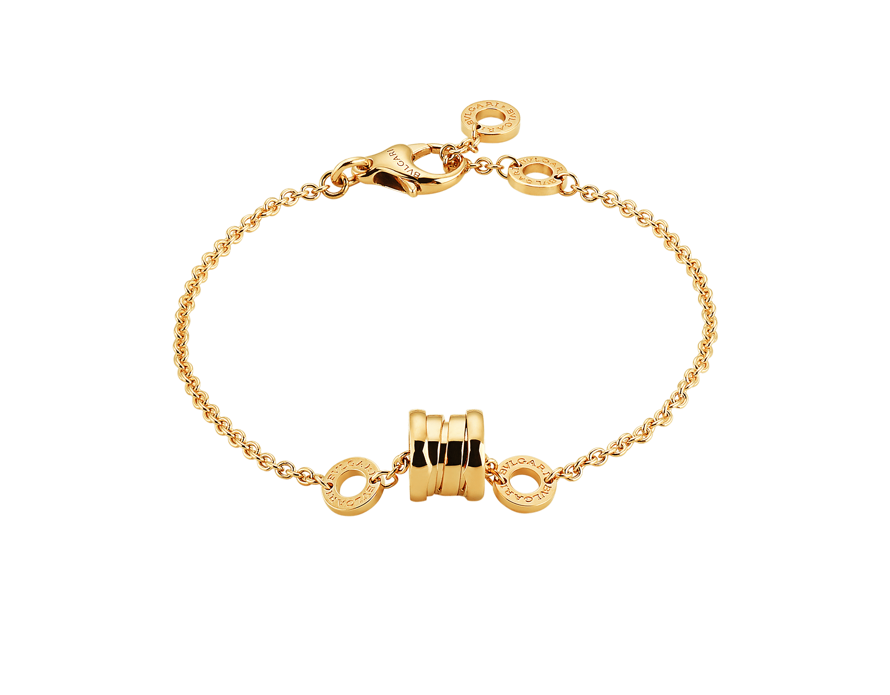 Composé d'une chaîne souple en or jaune et de l'emblématique spirale sous forme de pendentif tendance, le bracelet B.zero1 révèle l'esprit contemporain de son design polyvalent et original. BR853667 image 1