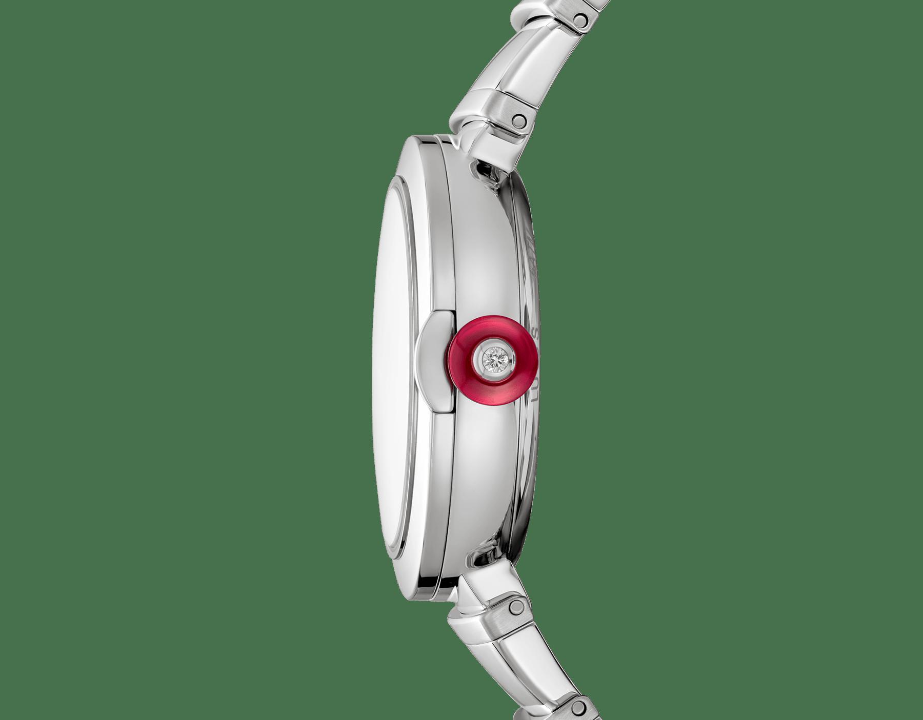 Reloj LVCEA con caja y brazalete en acero inoxidable y esfera negra. 102688 image 3