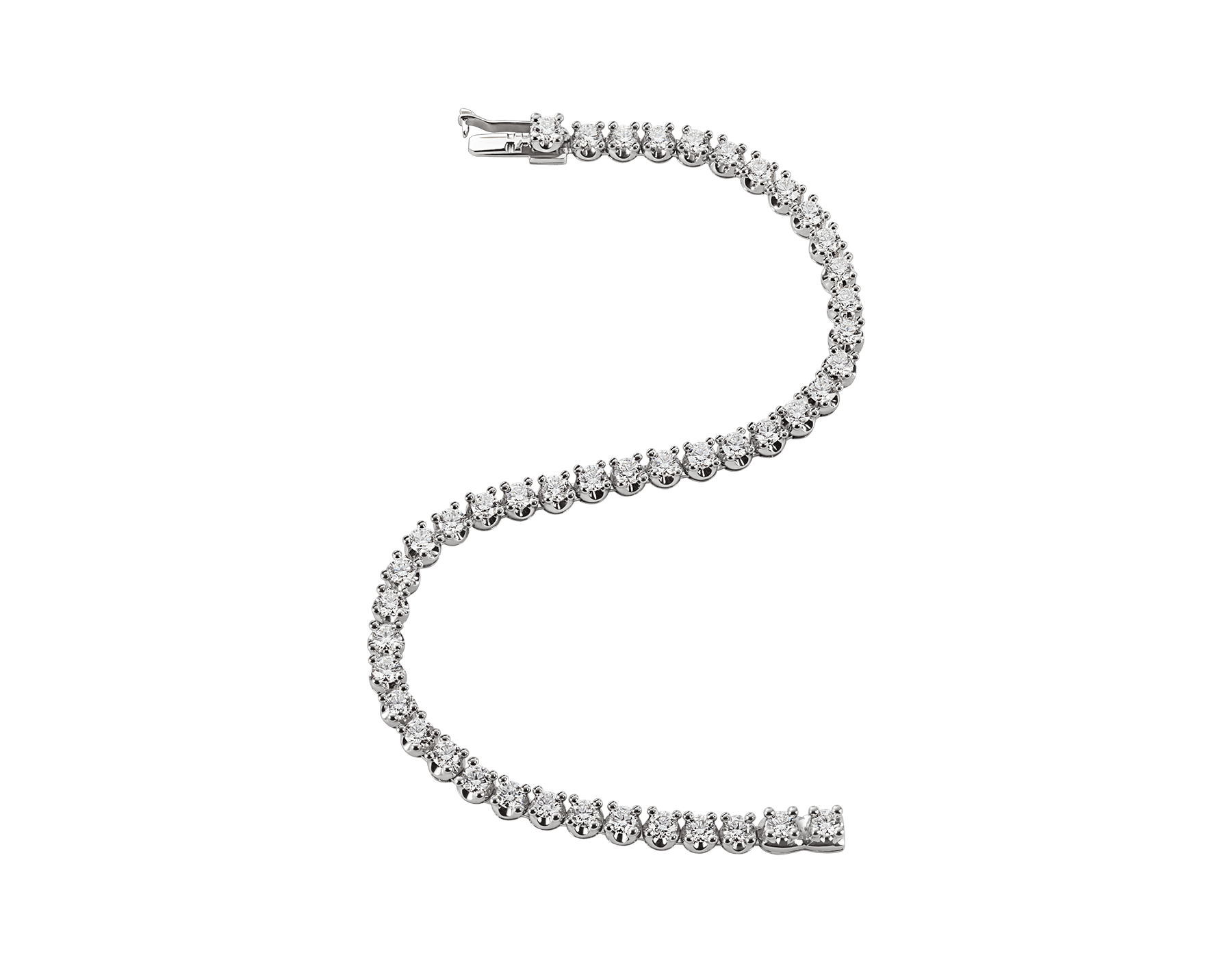 Corona 18 kt white gold tennis bracelet with round brilliant cut diamonds BR850566 image 2