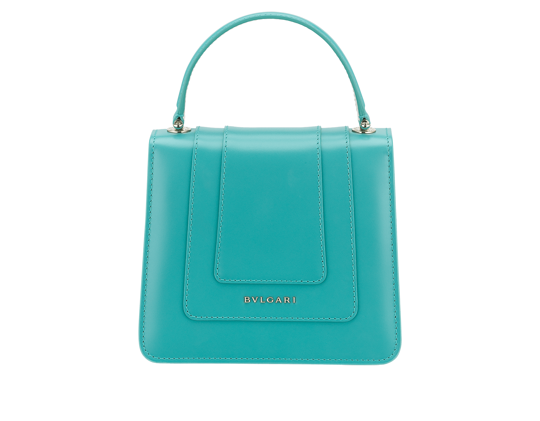"""Serpenti Forever "" crossbody bag in arctic jade calf leather body and glacier turquoise and white agate calf leather sides. Iconic snakehead closure in light gold plated brass enriched with arctic jade and white agate enamel and black onyx eyes. 288772 image 3"
