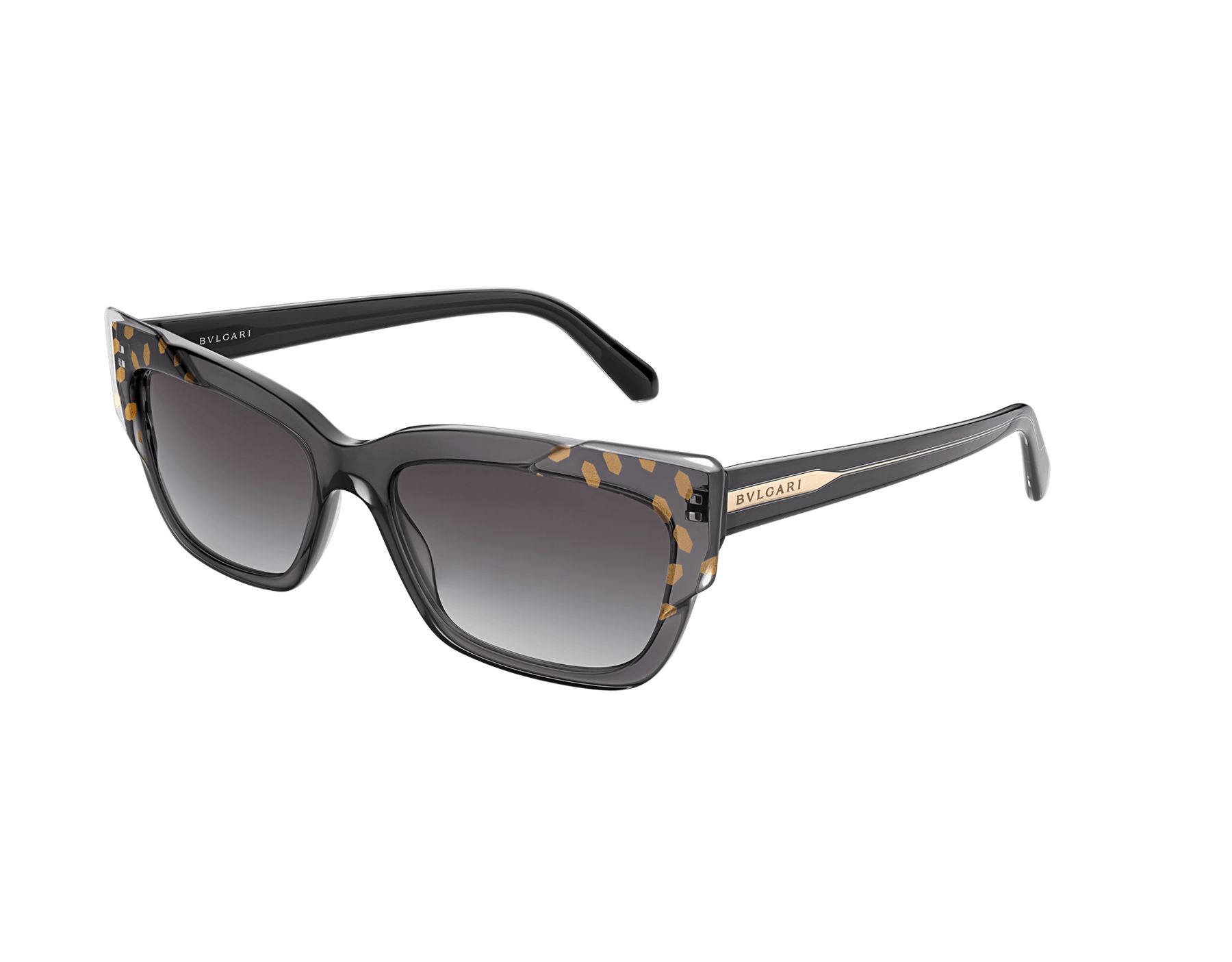 Bvlgari Serpenti Scale-blast rectangular cat-eye acetate sunglasses. 903735 image 1