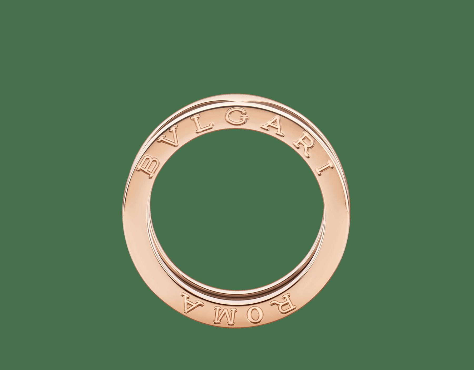 18Kピンクゴールドおよびサーメット製ビー・ゼロワン 2バンドリング。 B-zero1-2-bands-AN857844 image 2