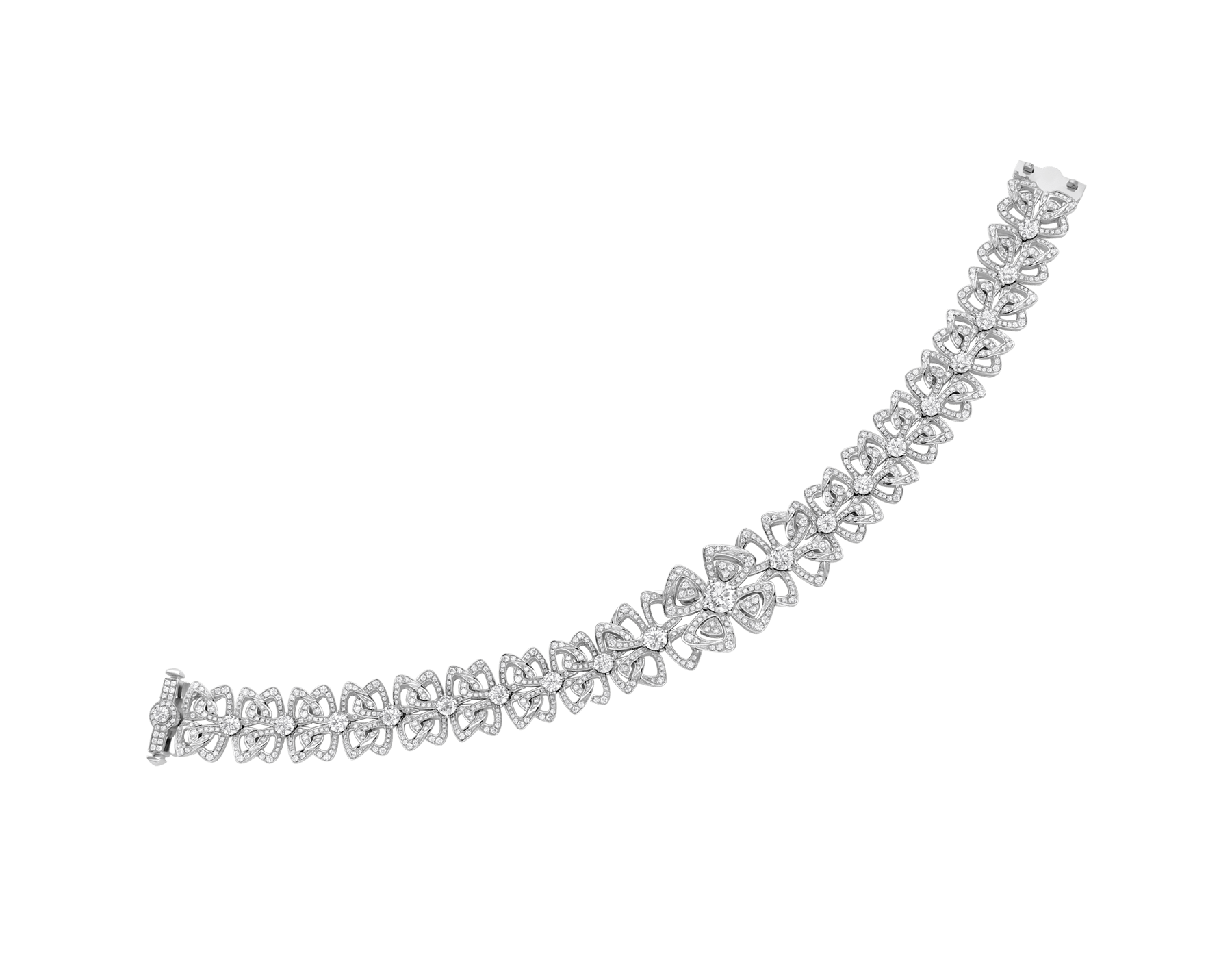 Fiorever 18 kt white gold bracelet set with 20 round brilliant-cut diamonds (2.63 ct) and pavé diamonds (1.85 ct) BR858758 image 2