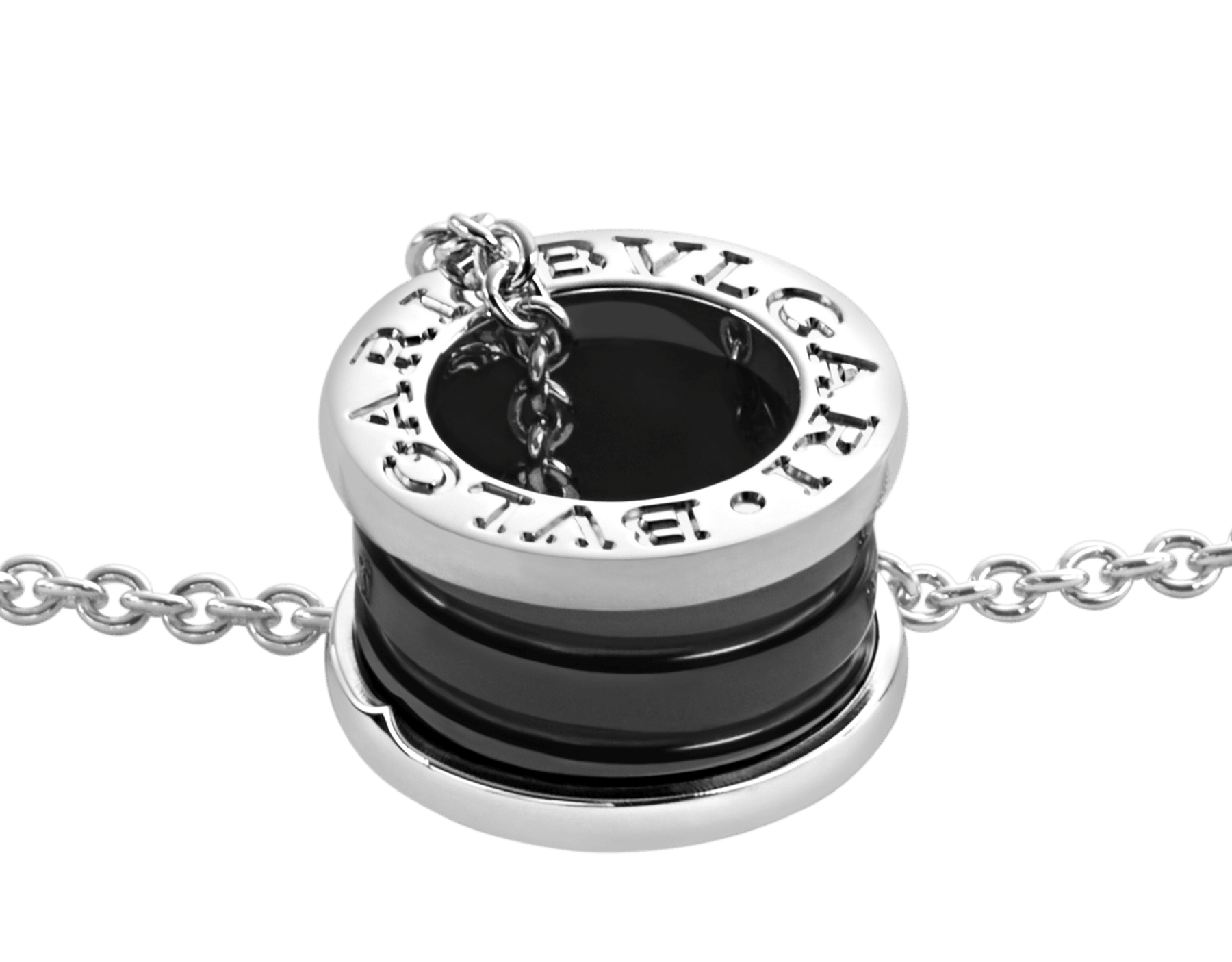 Save the Children necklace with sterling silver and black ceramic pendant, and sterling silver chain 349634 image 3