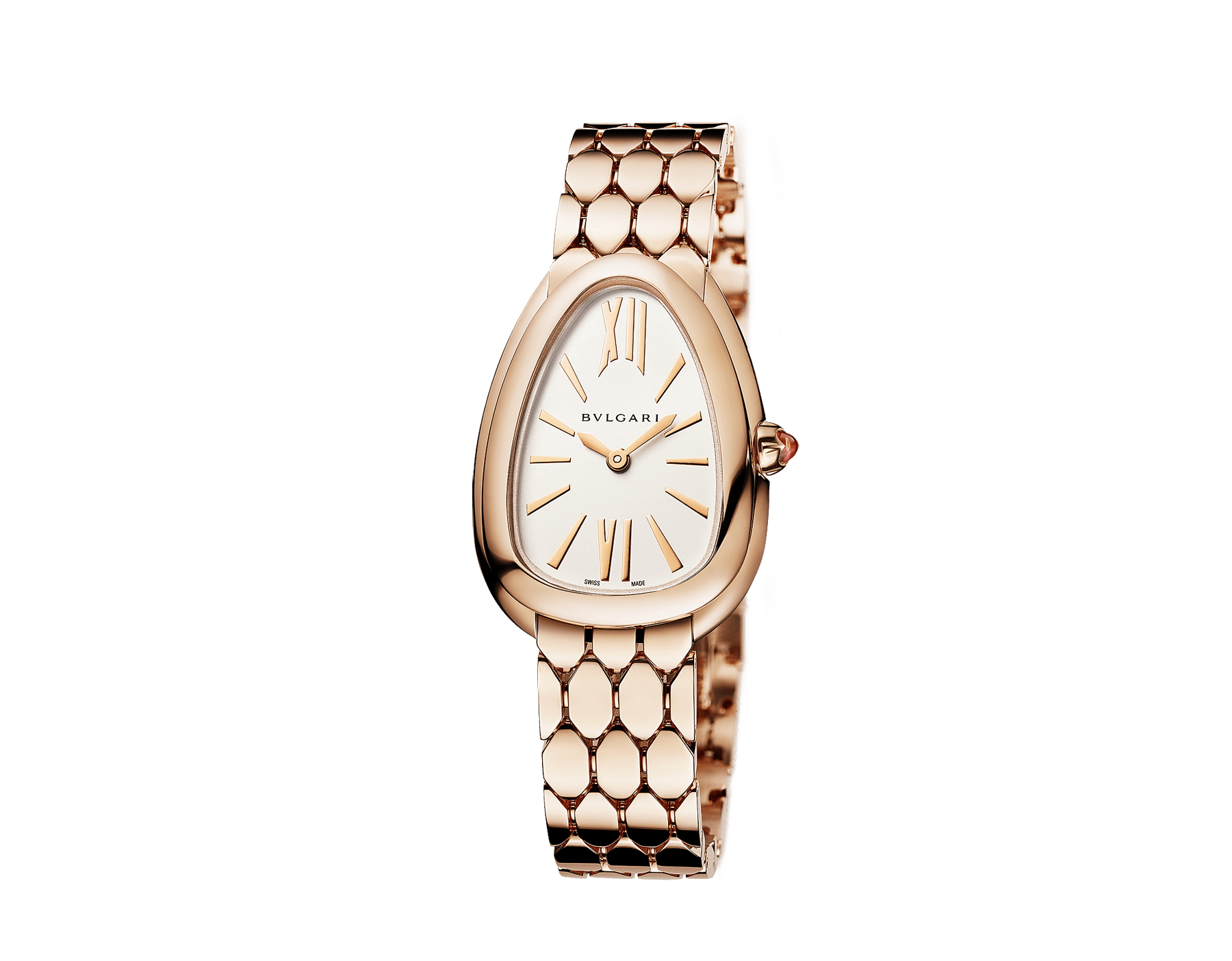Serpenti Seduttori watch with 18 kt rose gold case, rose gold bracelet and a white silver opaline dial. 103145 image 2