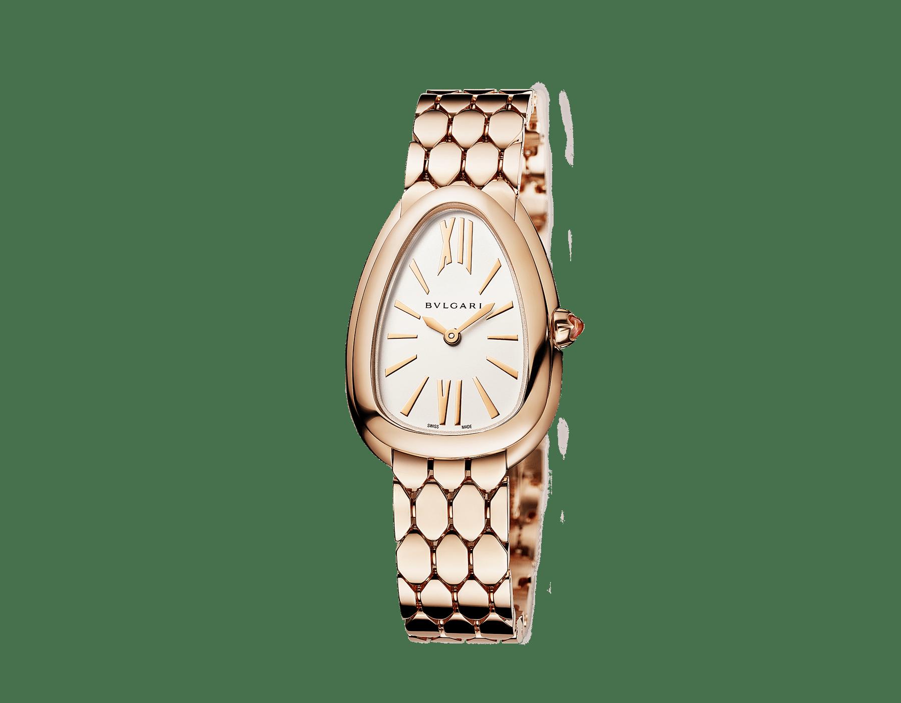 Orologio Serpenti Seduttori con cassa e bracciale in oro rosa 18 kt e quadrante opalino argento. 103145 image 2
