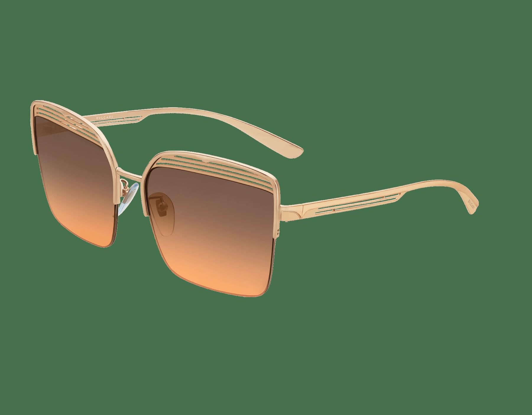 Occhiali da sole Bvlgari B.zero1 B.overvibe con montatura semicerchiata in metallo dalla forma squadrata. 903811 image 1