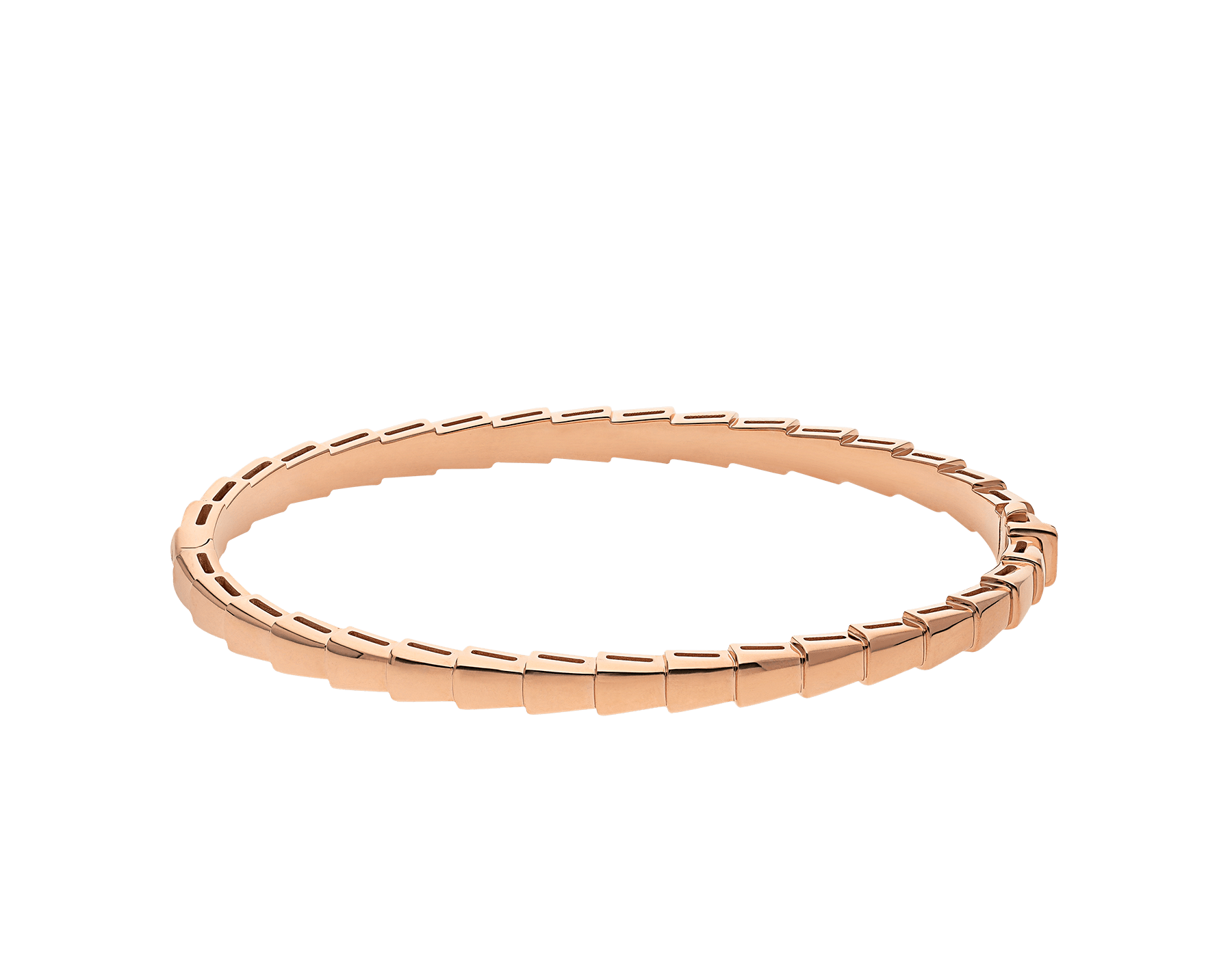 Bracelet Serpenti Viper en or rose 18 K (4 mm de largeur) BR858386 image 2