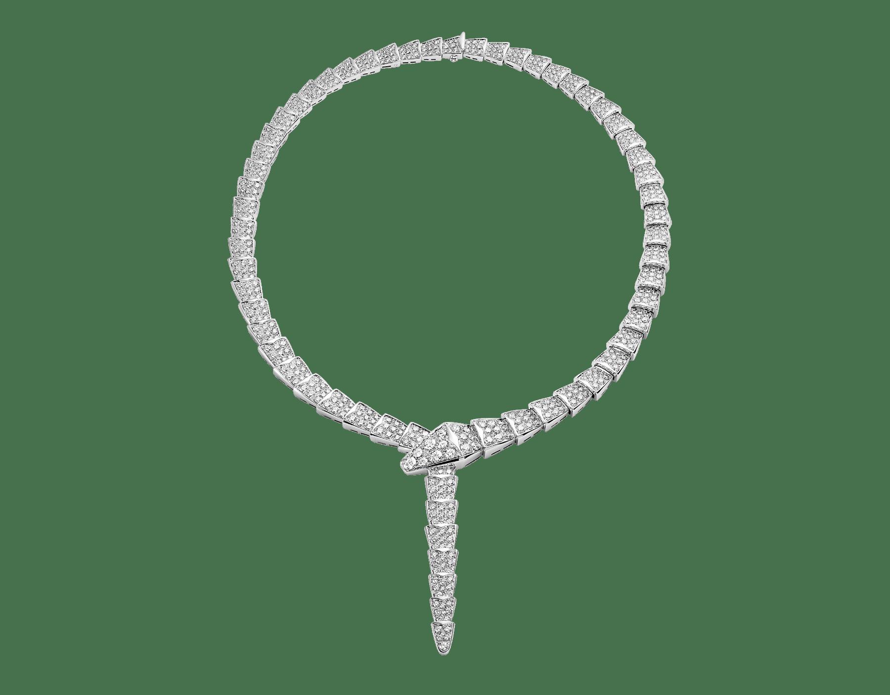 Collier Serpenti en or blanc 18K avec pavé diamants. 348165 image 1