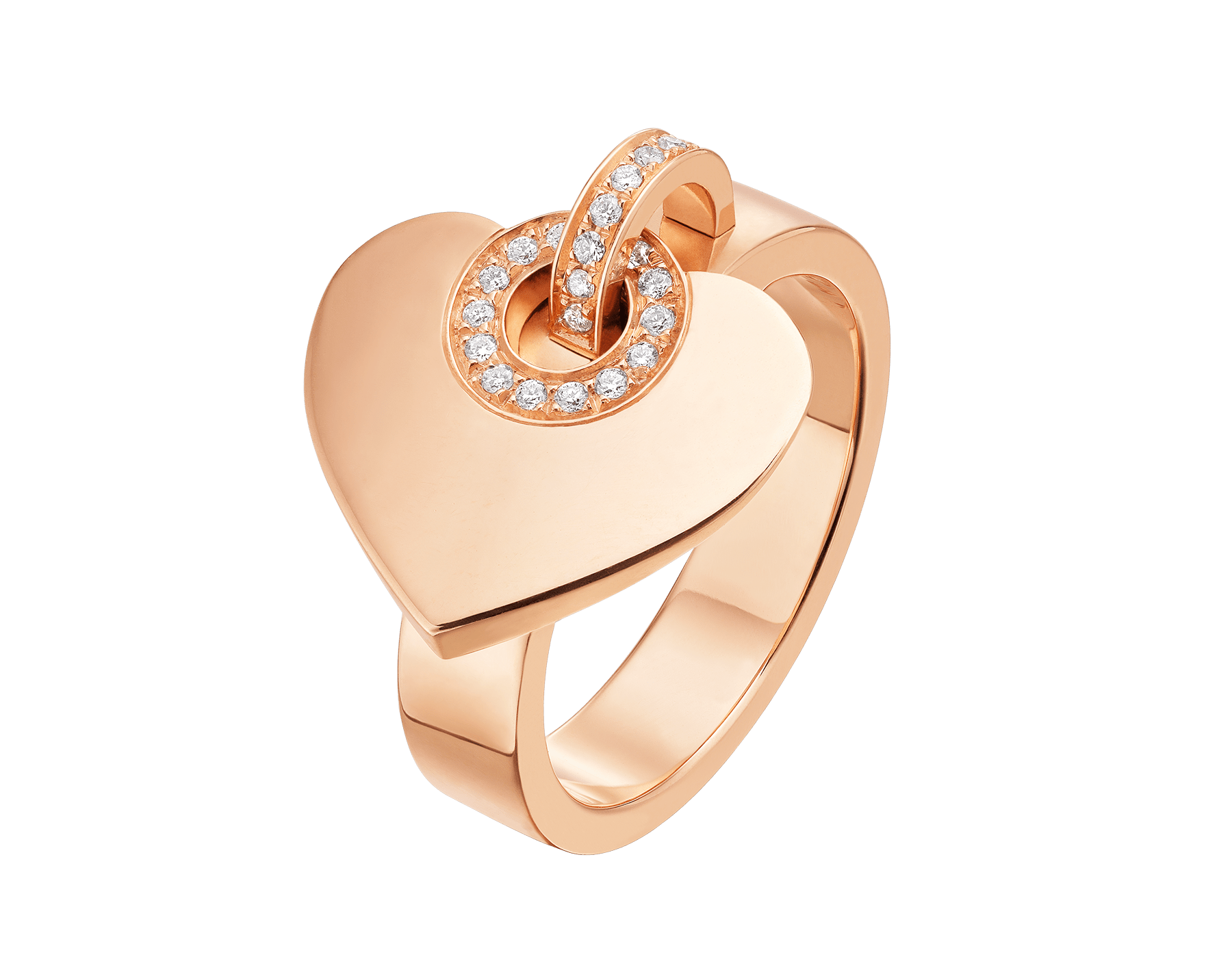 Bague BVLGARI BVLGARI en or rose 18 K pavé diamants AN857219 image 1