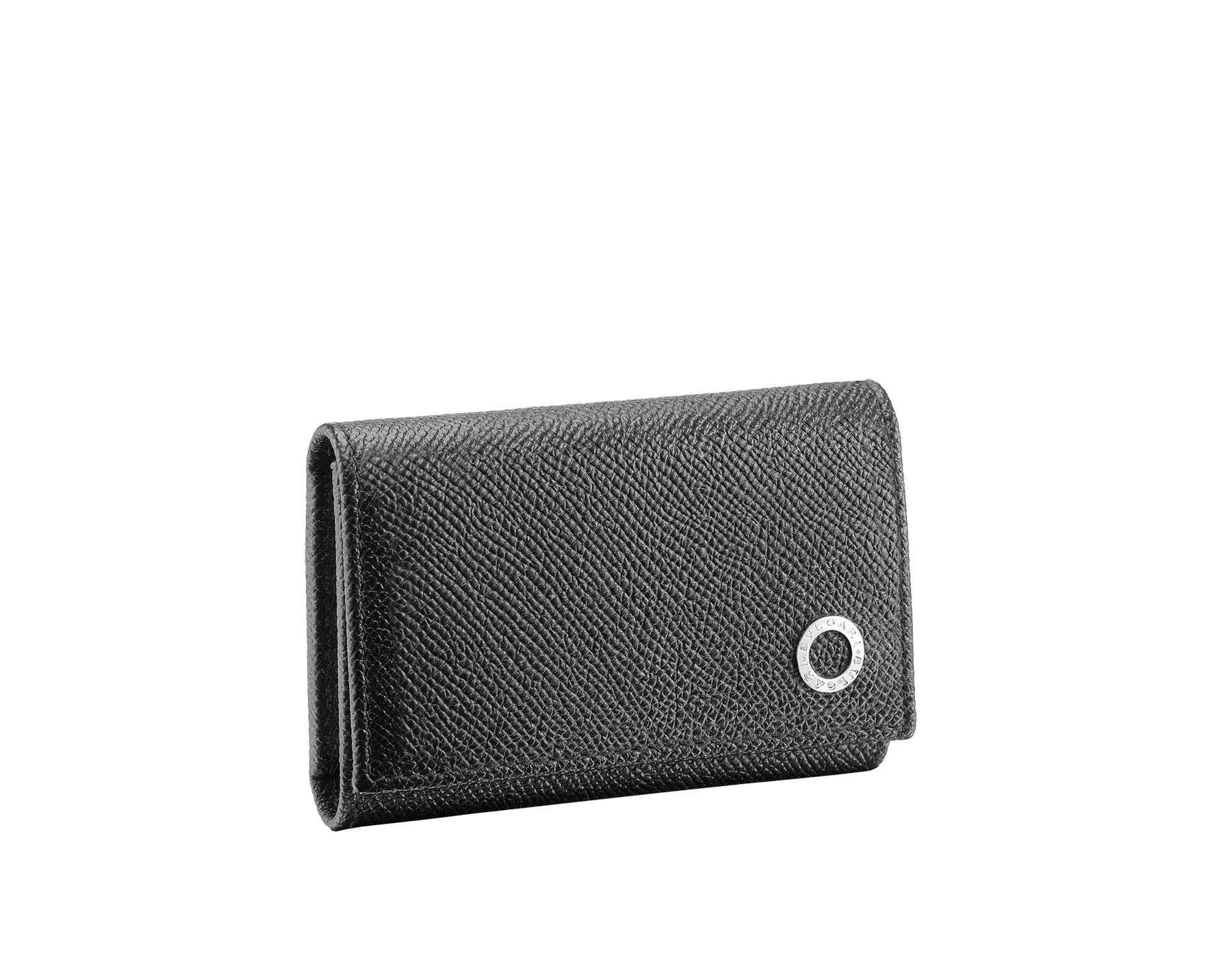 BVLGARI BVLGARI double keyhoder in black grain calf leather. Detachable car keyholder in palladium plated brass. 288605 image 1