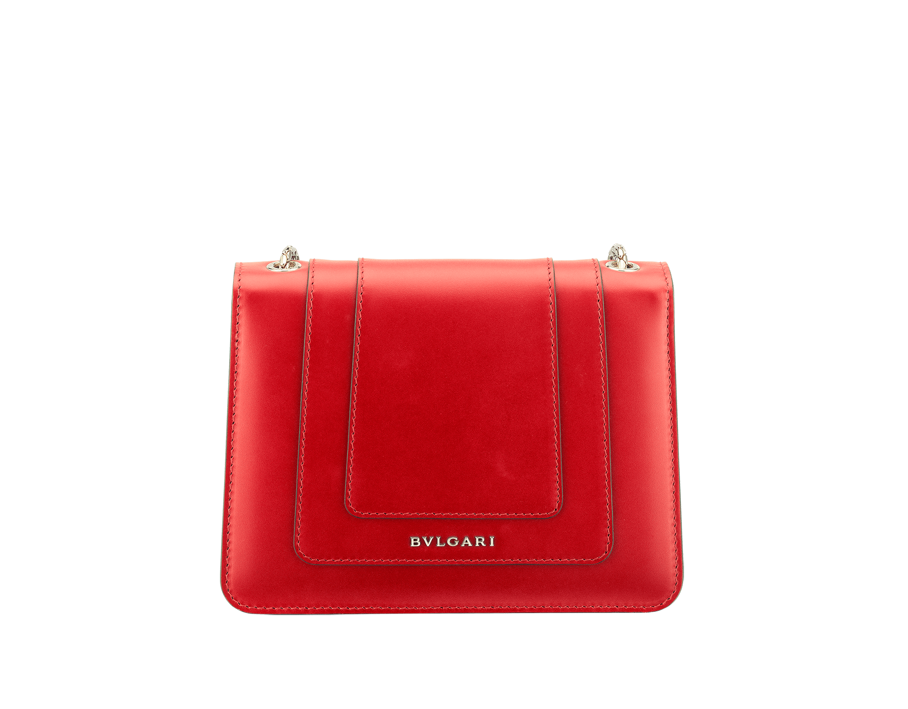 """Serpenti Forever "" crossbody bag in carmine jasper calf leather. Iconic snakehead closure in light gold plated brass enriched with black and white enamel and green malachite eyes 287013 image 3"