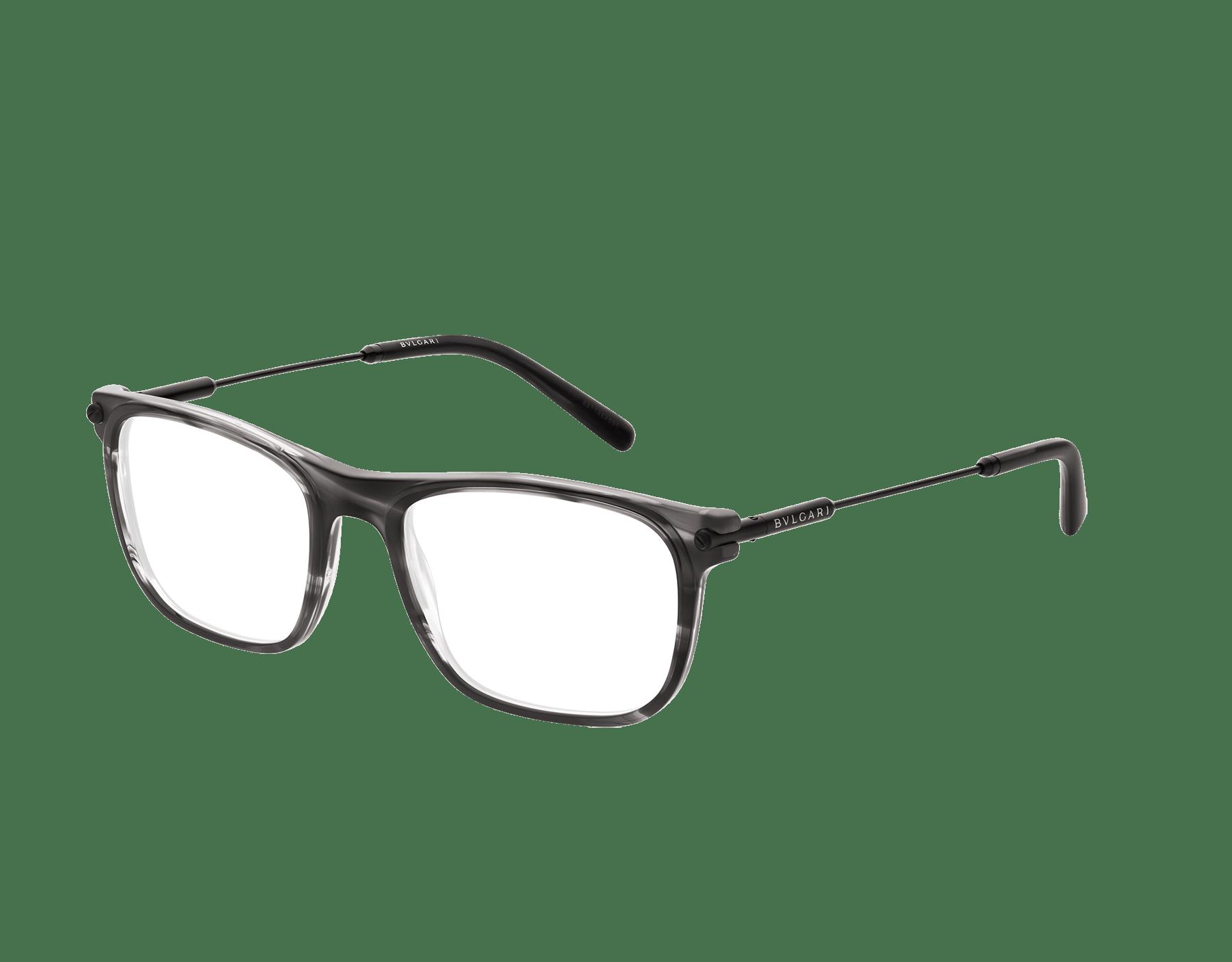 Diagono rectangular acetate eyeglasses. 903634 image 1