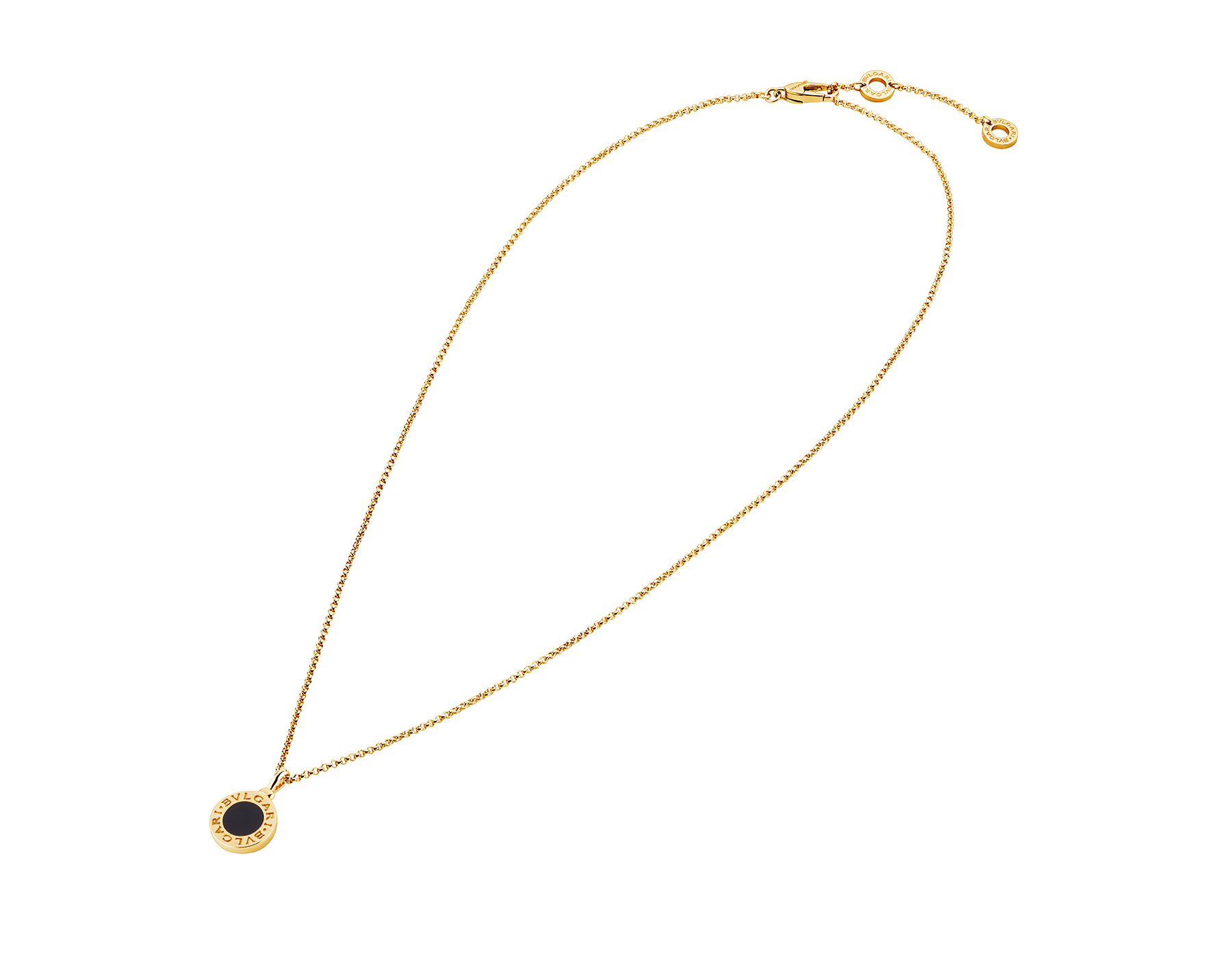 BVLGARI BVLGARI necklace with 18 kt yellow gold chain and 18 kt yellow gold pendant set with onyx 350554 image 2