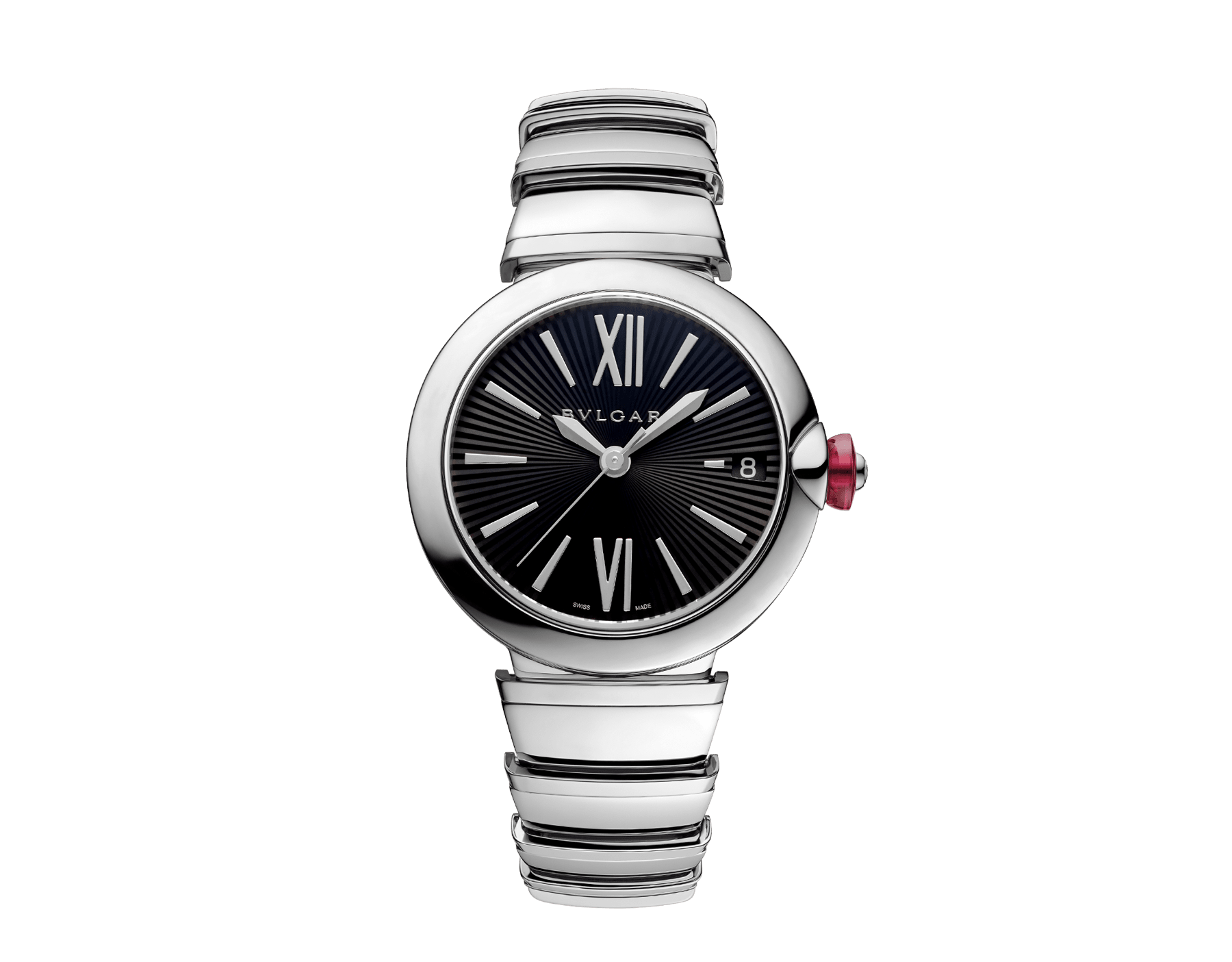 LVCEA watch in stainless steel case and bracelet, with black dial. 102688 image 1