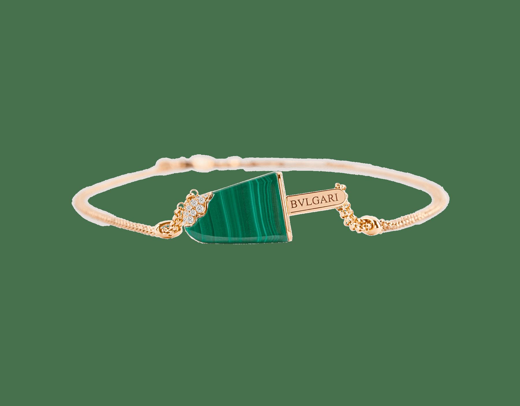 BVLGARI BVLGARI Gelati项链,18K玫瑰金材质,镶嵌孔雀石,饰以密镶钻石 356186 image 2