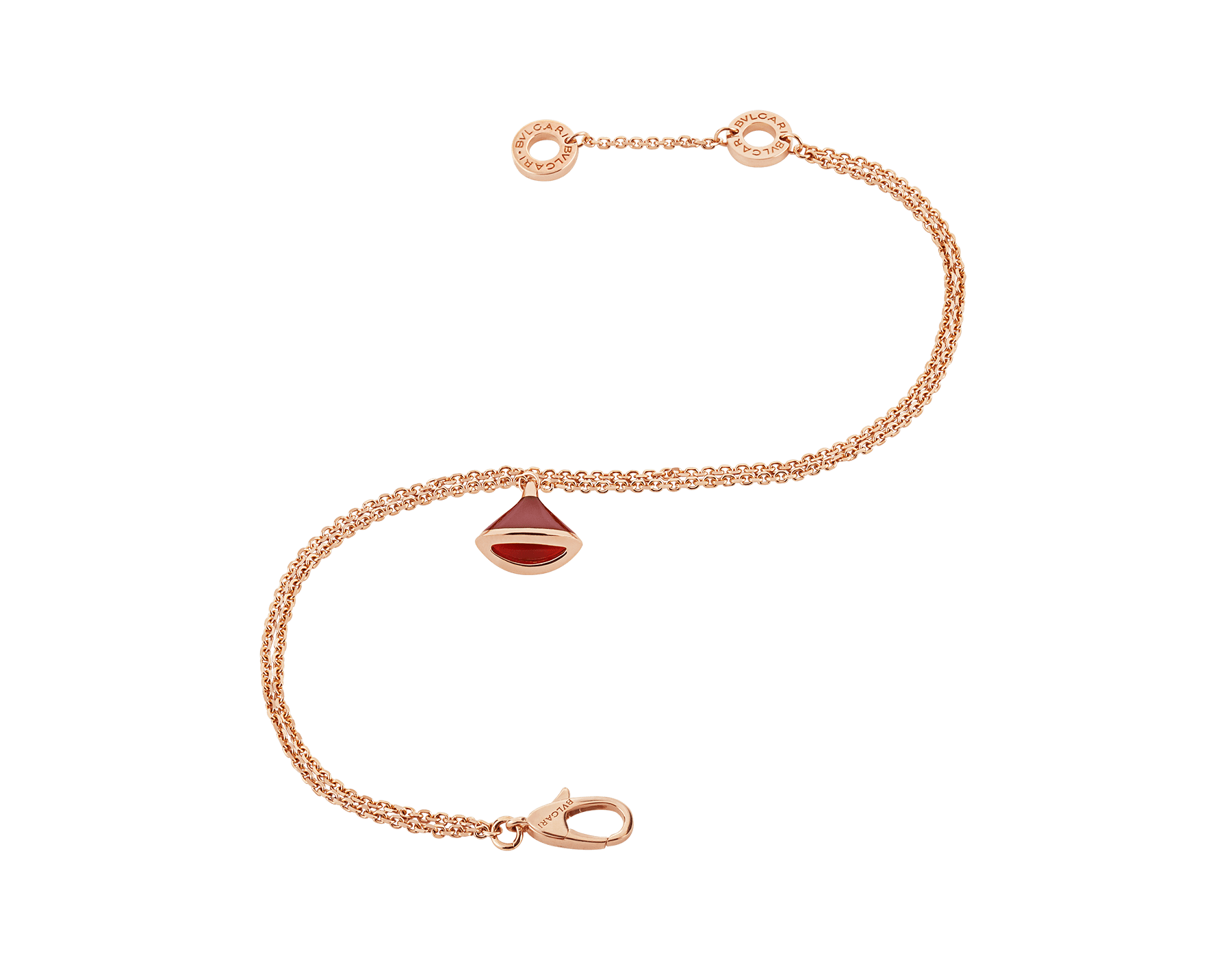 Incarnant le charme des couleurs et l'essence de la beauté féminine, le bracelet DIVAS' DREAM éblouit par la vivacité de la cornaline et la délicatesse de ses courbes pures. BR857194 image 2