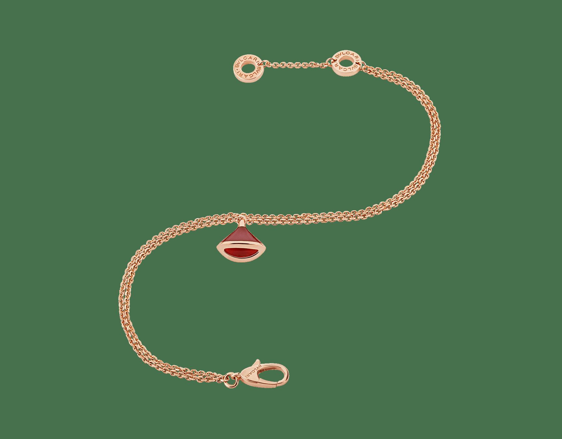 18Kピンクゴールド製ディーヴァ ドリーム ブレスレット。カーネリアンをあしらった18Kピンクゴールド製ペンダントトップ付き。 BR857194 image 2
