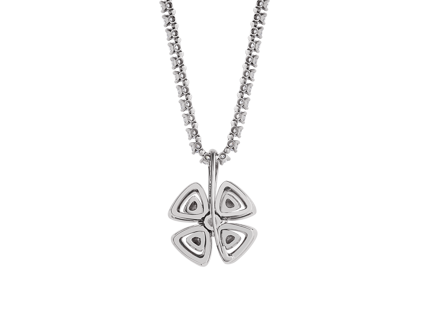 Fiorever 18 kt white gold convertible pendant necklace set with brilliant-cut diamonds (5.55 ct) and pavé diamonds (0.41 ct) 358351 image 4