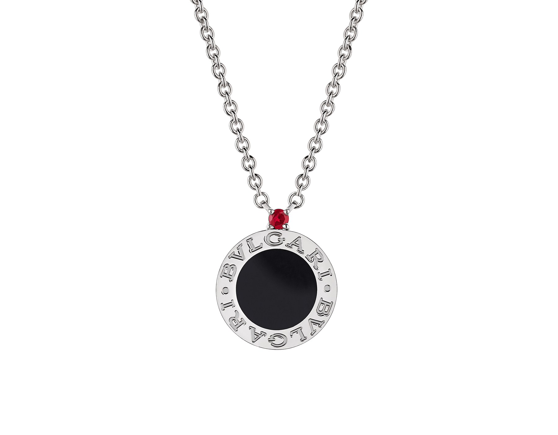 Collana Save the Children 10th Anniversary in argento 925 con elemento in onice e rubino. 356910 image 1
