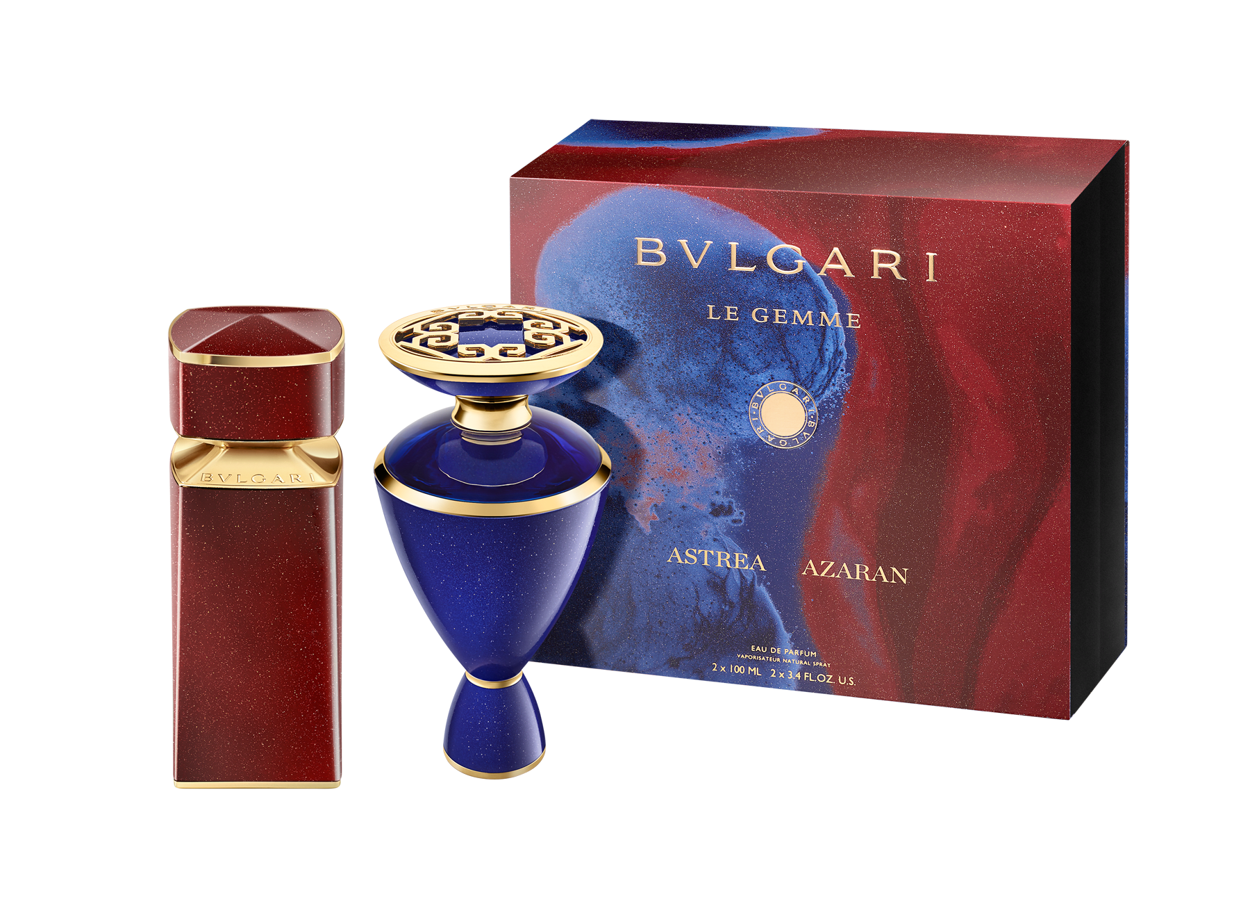 The encounter of two gems of nature: the iridescent Aventurine gemstone and precious Saffron spice harmoniously give way to this magnificent new fragrance collector's duo 41507 image 2
